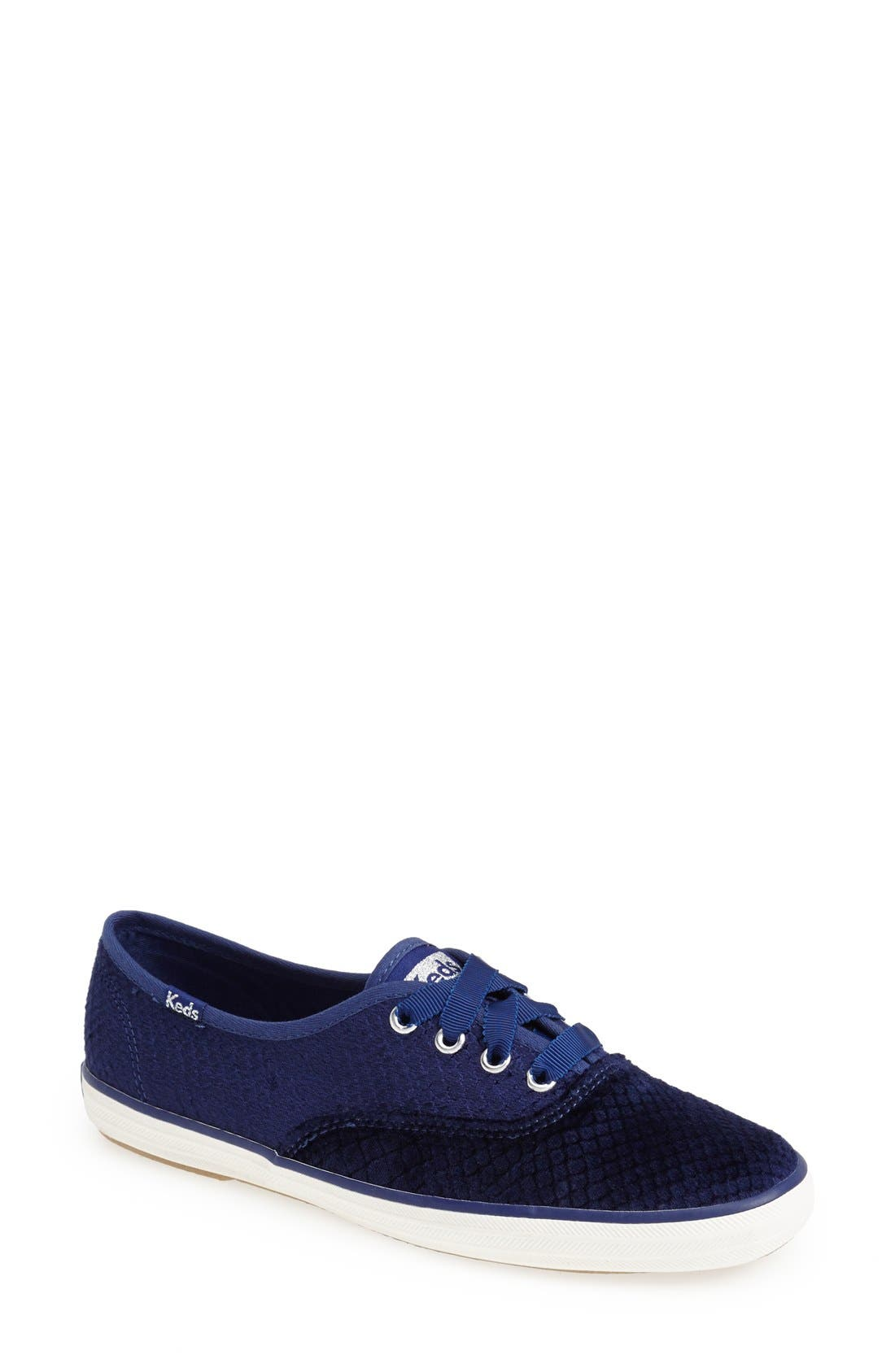 Alternate Image 1 Selected - Keds® 'Champion - Snake Embossed Velvet' Sneaker (Women)