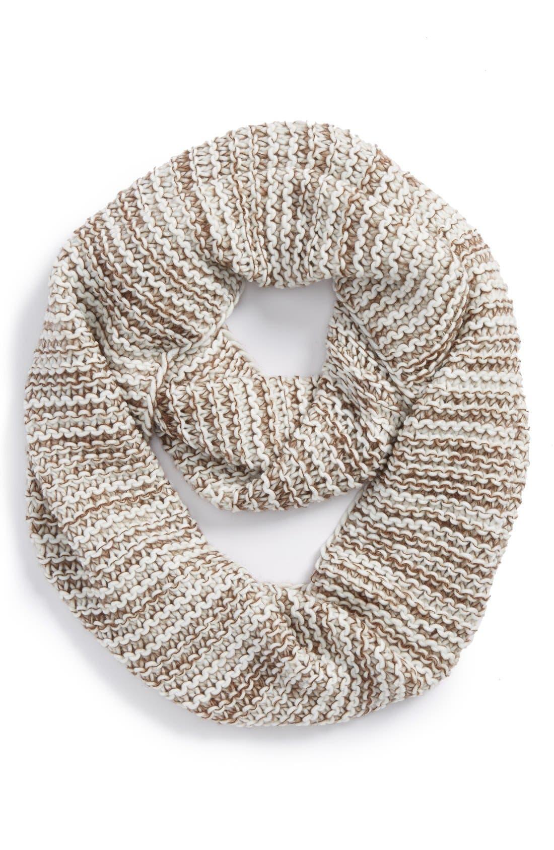 Main Image - BP. Marled Stripe Knit Infinity Scarf (Juniors)
