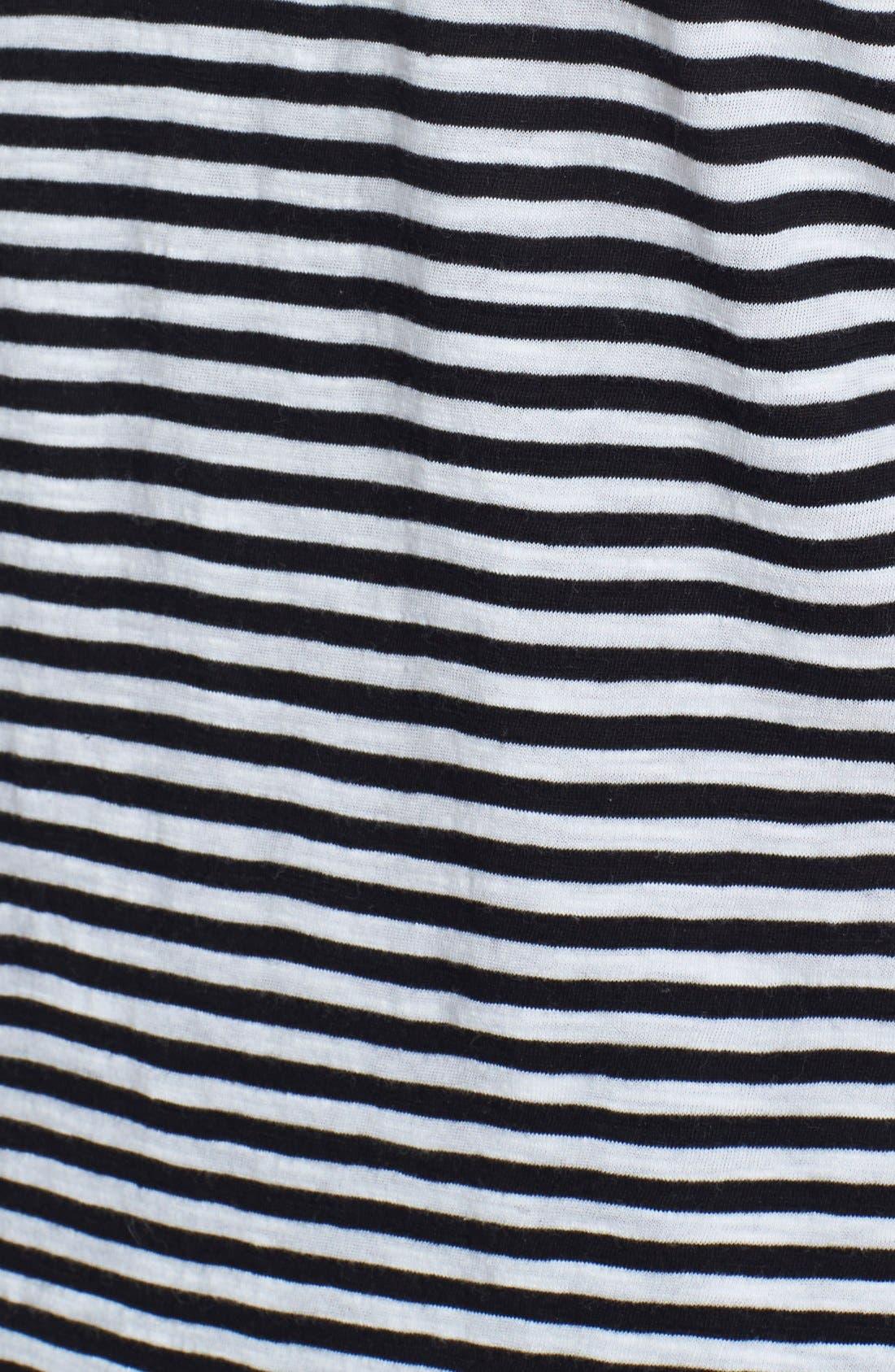 Alternate Image 3  - Lucky Brand 'Carina' Stripe Cotton Tee (Plus Size)