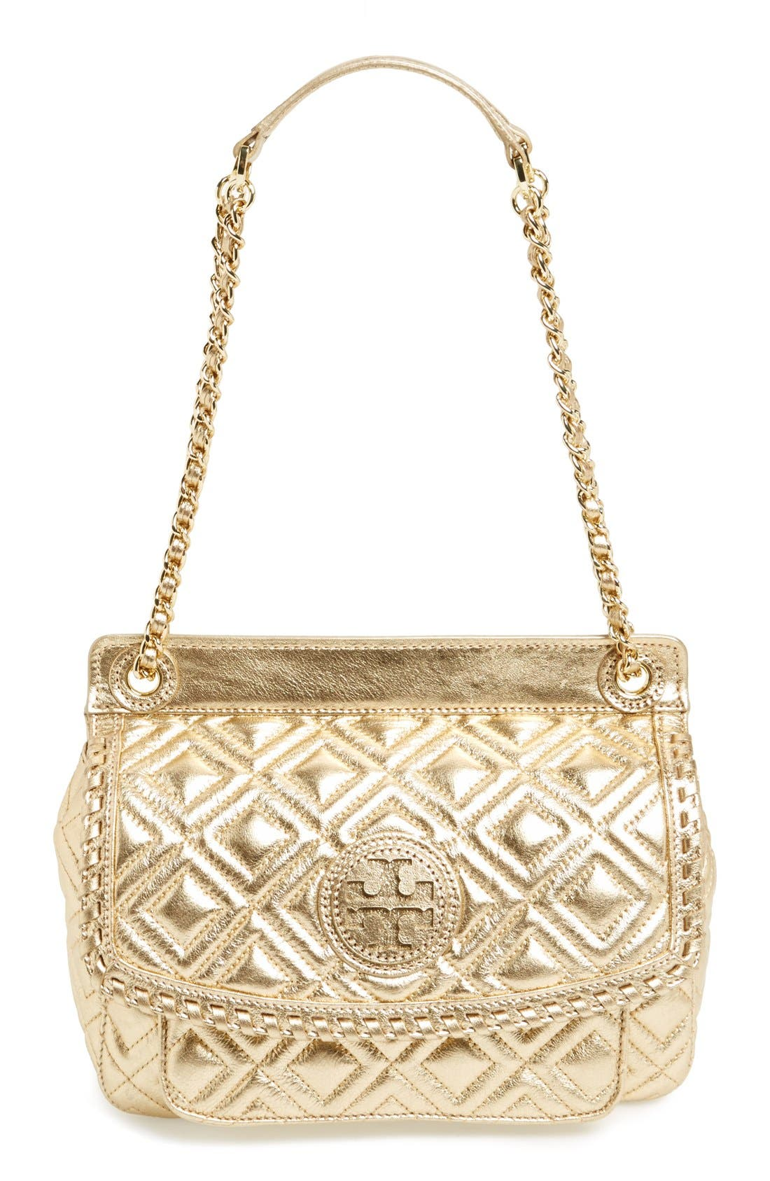 Tory Burch Small Marion Quilted Lambskin Crossbody Bag