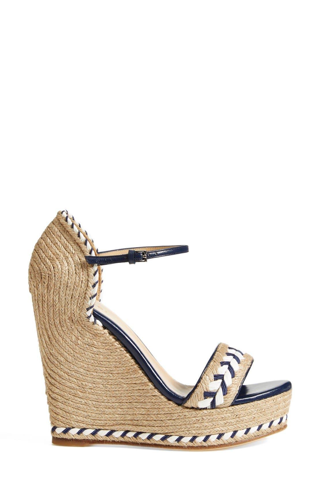 Alternate Image 4  - Gucci 'Tiffany' Wedge Sandal (Women)