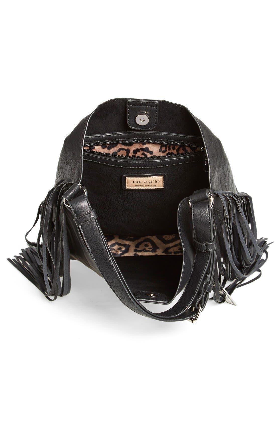 Alternate Image 3  - Urban Originals 'Avoca' Fringe Shoulder Bag