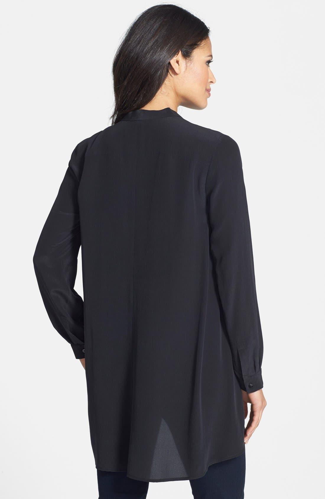Alternate Image 3  - Eileen Fisher Silk Crêpe de Chine Mandarin Collar Tunic