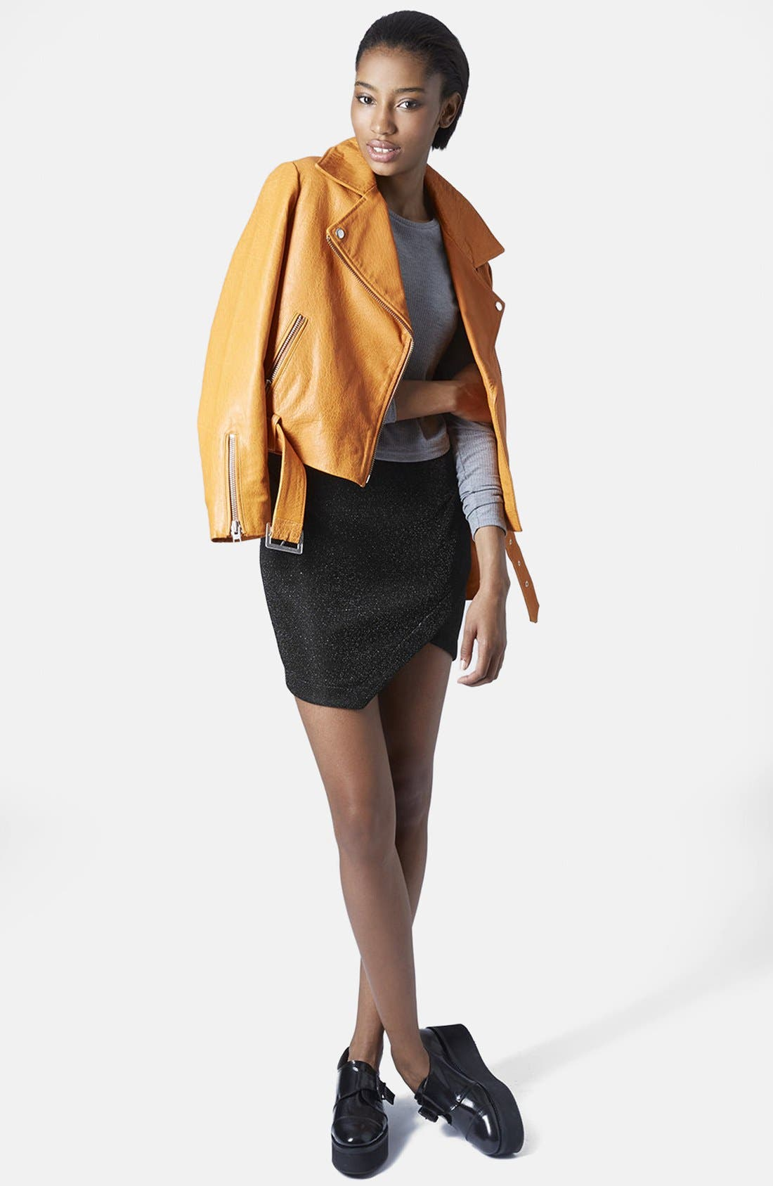 Alternate Image 5  - Topshop Tinsel Wrap Miniskirt