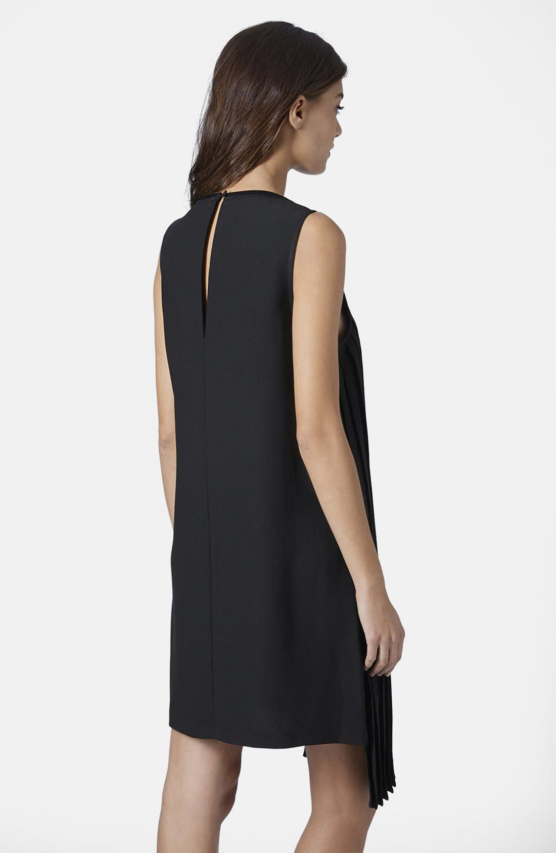 Alternate Image 2  - Topshop Sequin and Pleat Panel Shift Dress