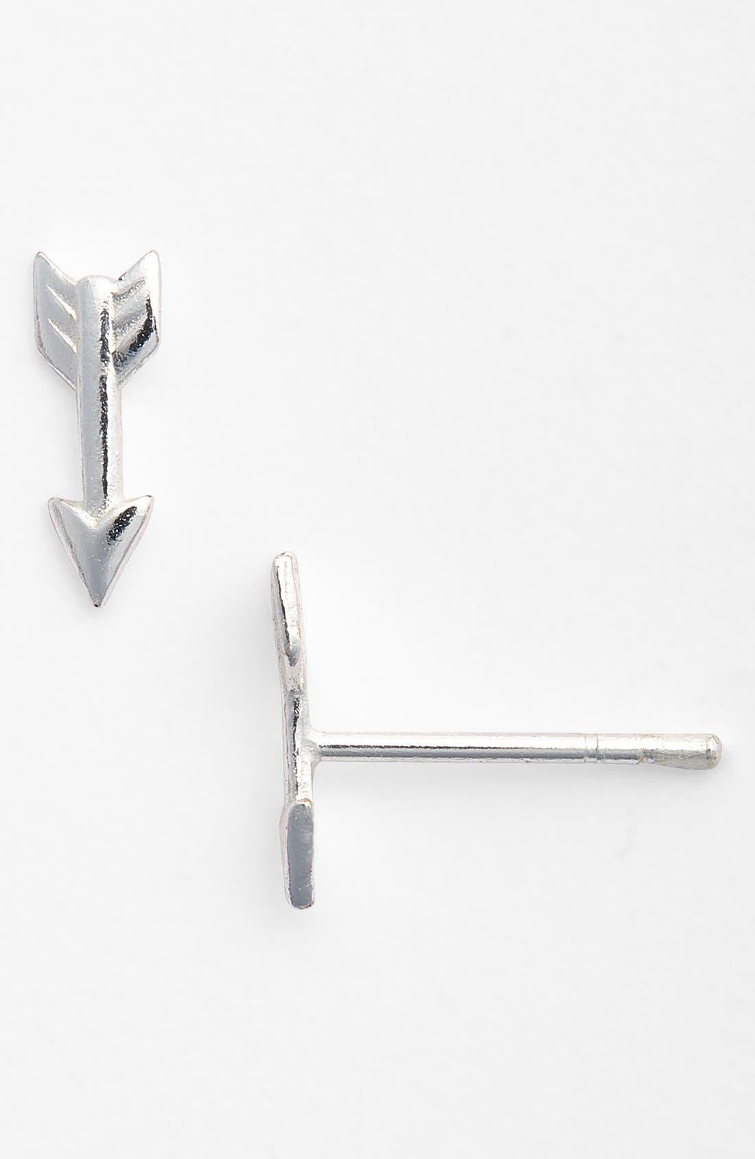 Alternate Image 1 Selected - Tomas Sterling Silver Arrow Earrings (Girls)