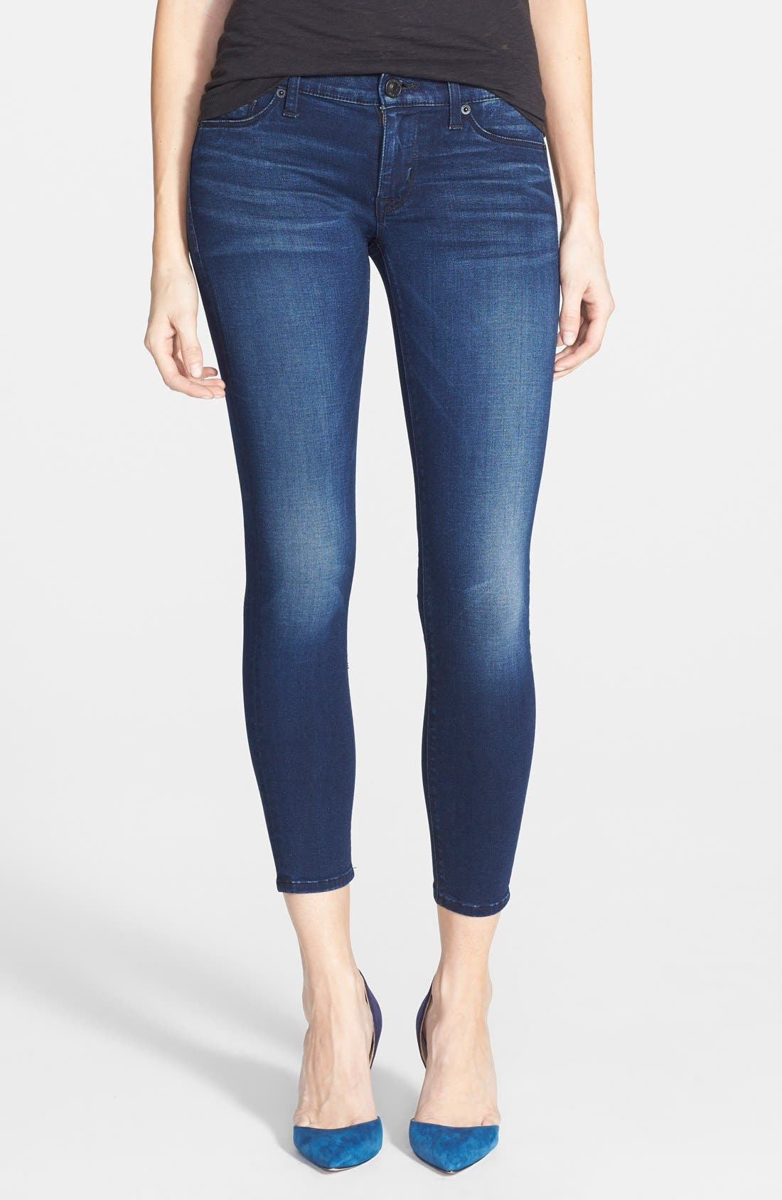 Main Image - Hudson Jeans 'Krista' Super Skinny Crop Jeans (Contrary)