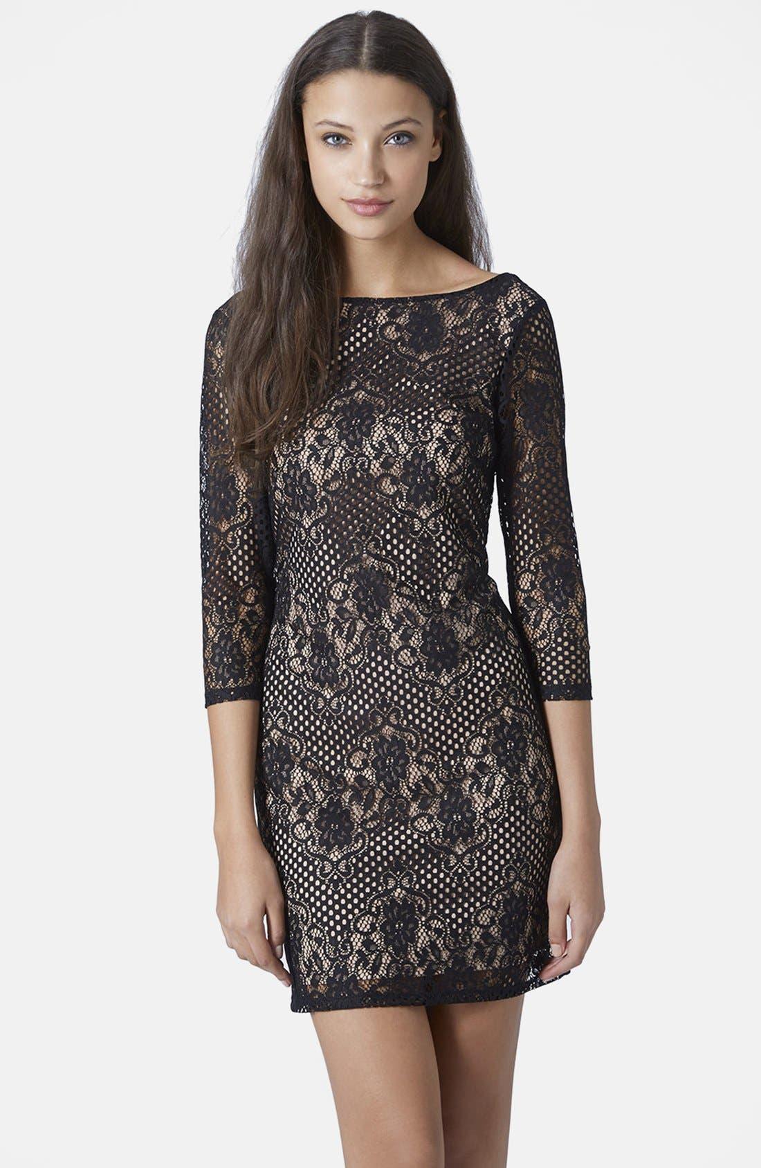 Main Image - Topshop Scallop Lace Body-Con Dress