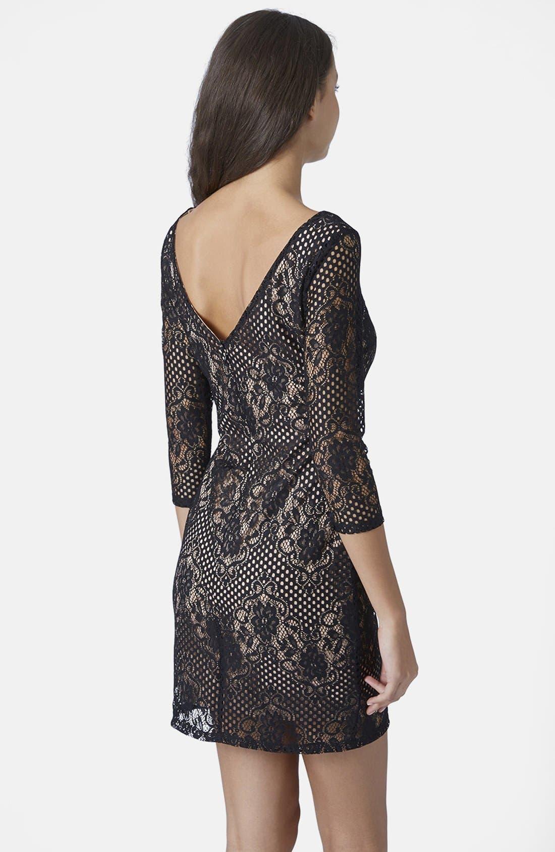 Alternate Image 2  - Topshop Scallop Lace Body-Con Dress