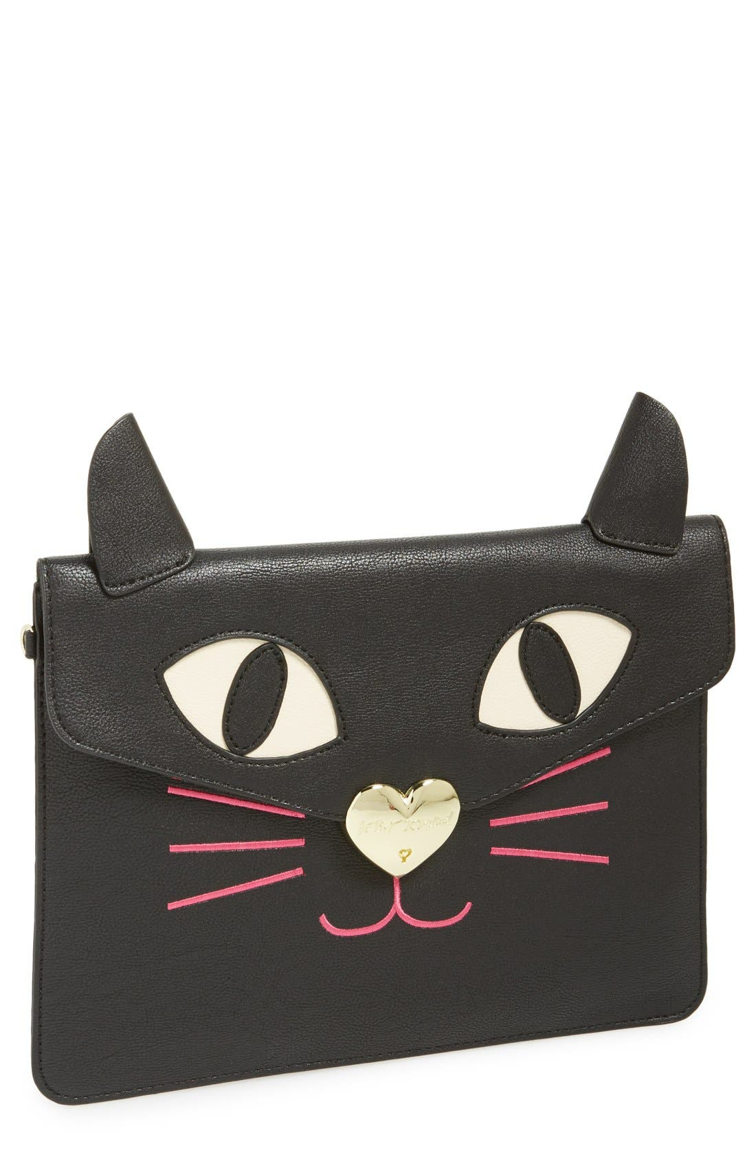 Alternate Image 1 Selected - Betsey Johnson Cat Clutch