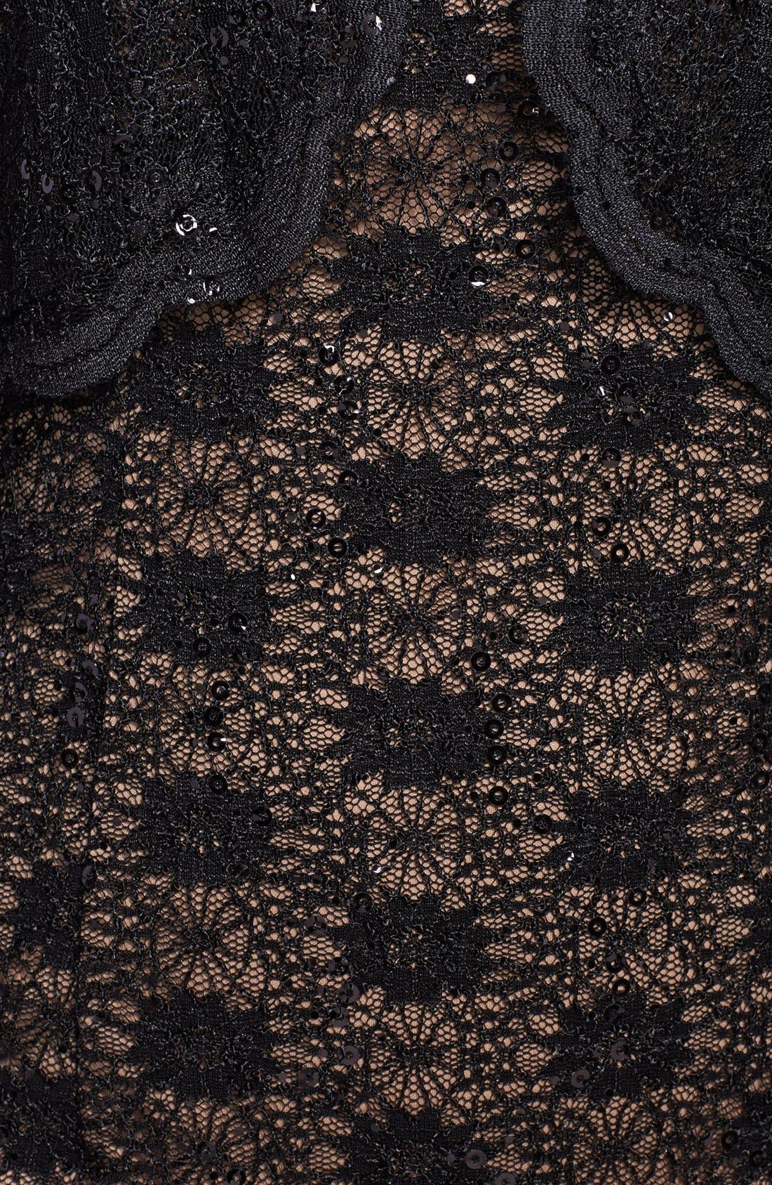 Alternate Image 4  - Alex Evenings Sequin Lace Sheath Dress & Bolero