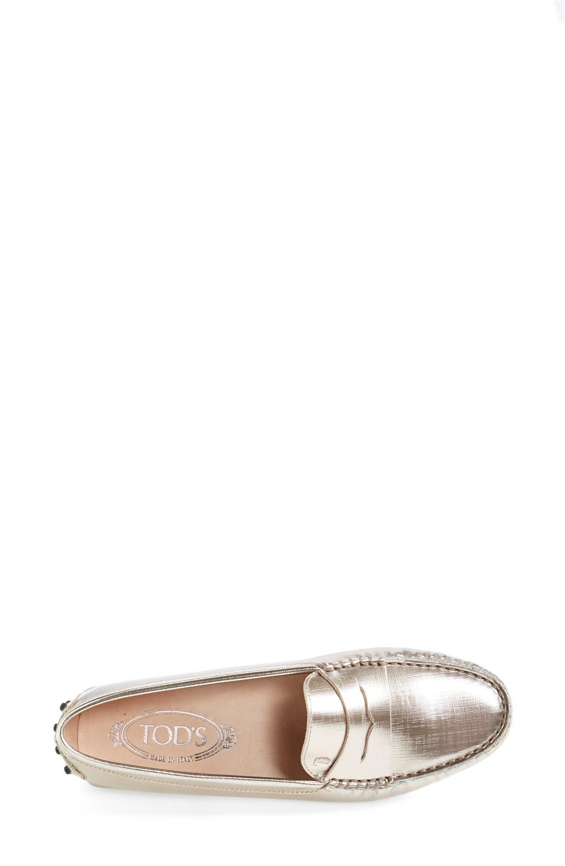 Alternate Image 3  - Tod's 'Gommini' Metallic Leather Penny Loafer