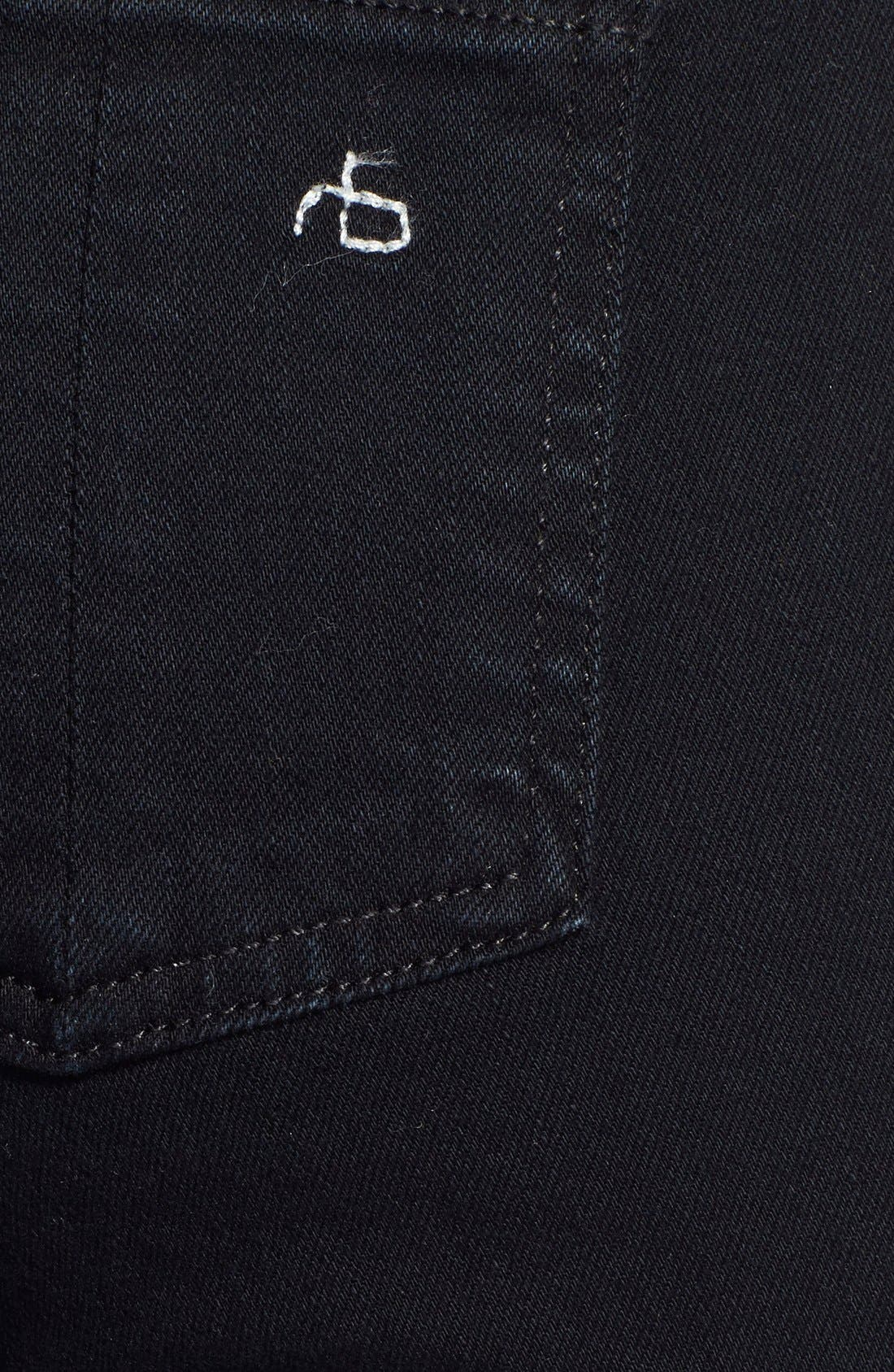 Alternate Image 3  - rag & bone/JEAN 'The Skinny' Stretch Jeans (Coal)