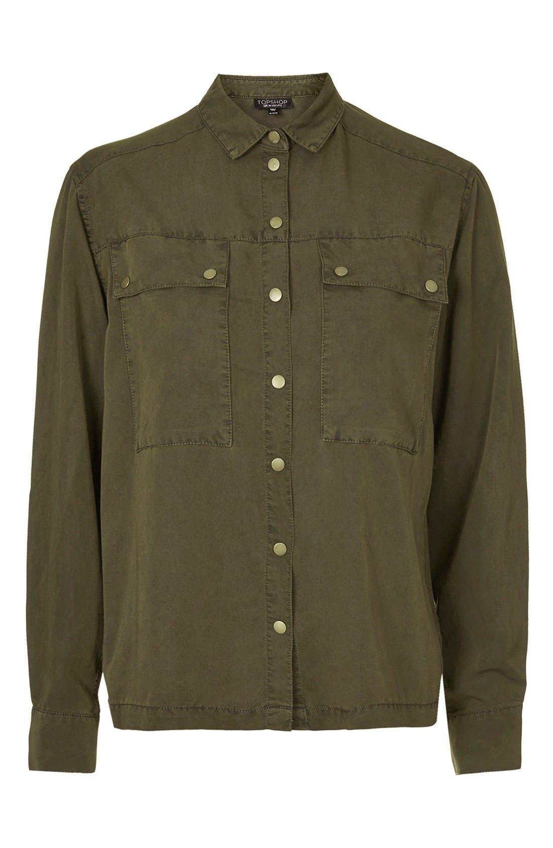 Alternate Image 3  - Topshop Casual Button Front Shirt