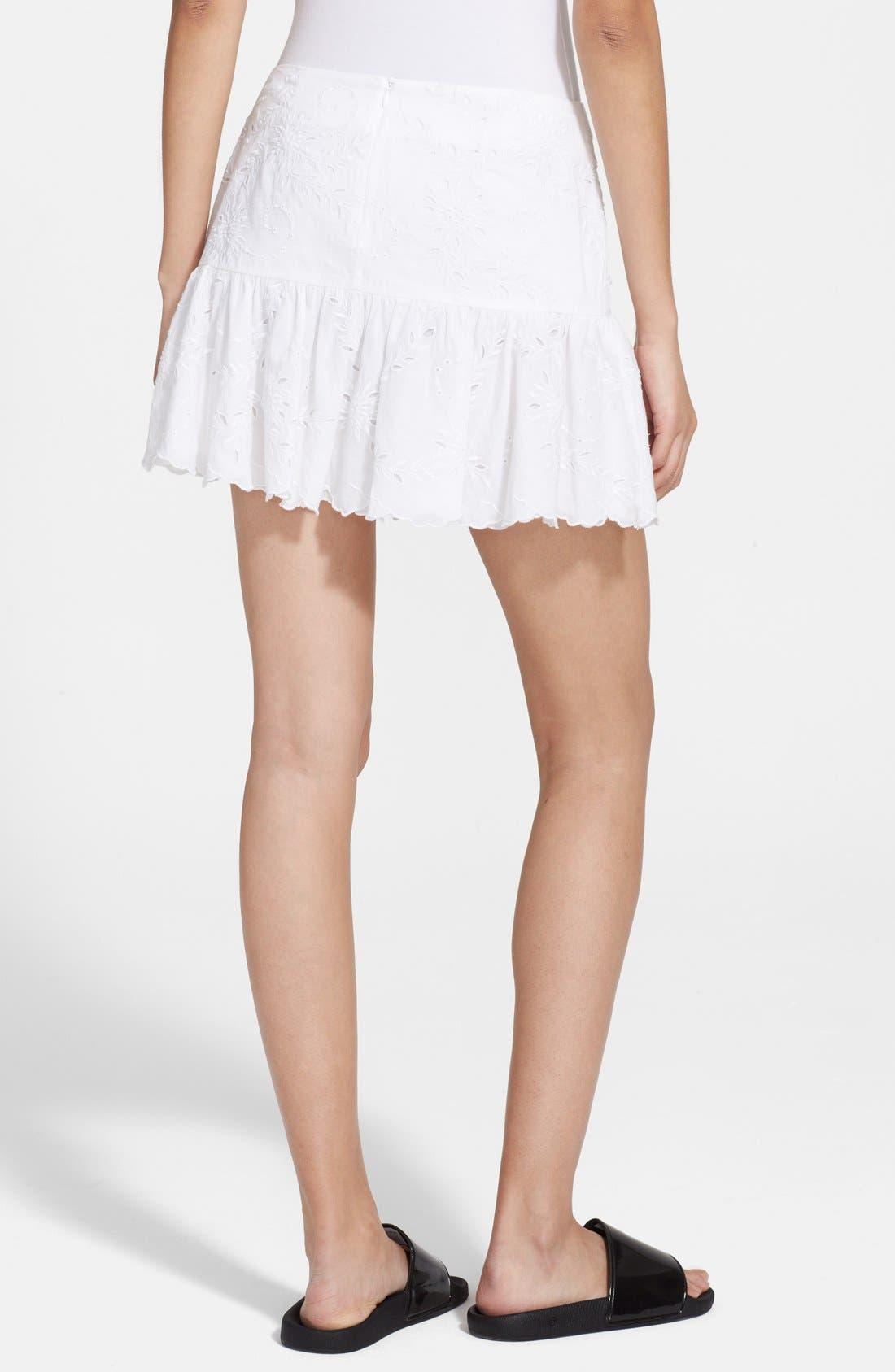 Alternate Image 2  - Zadig & Voltaire Embroidered Ruffle Hem Miniskirt