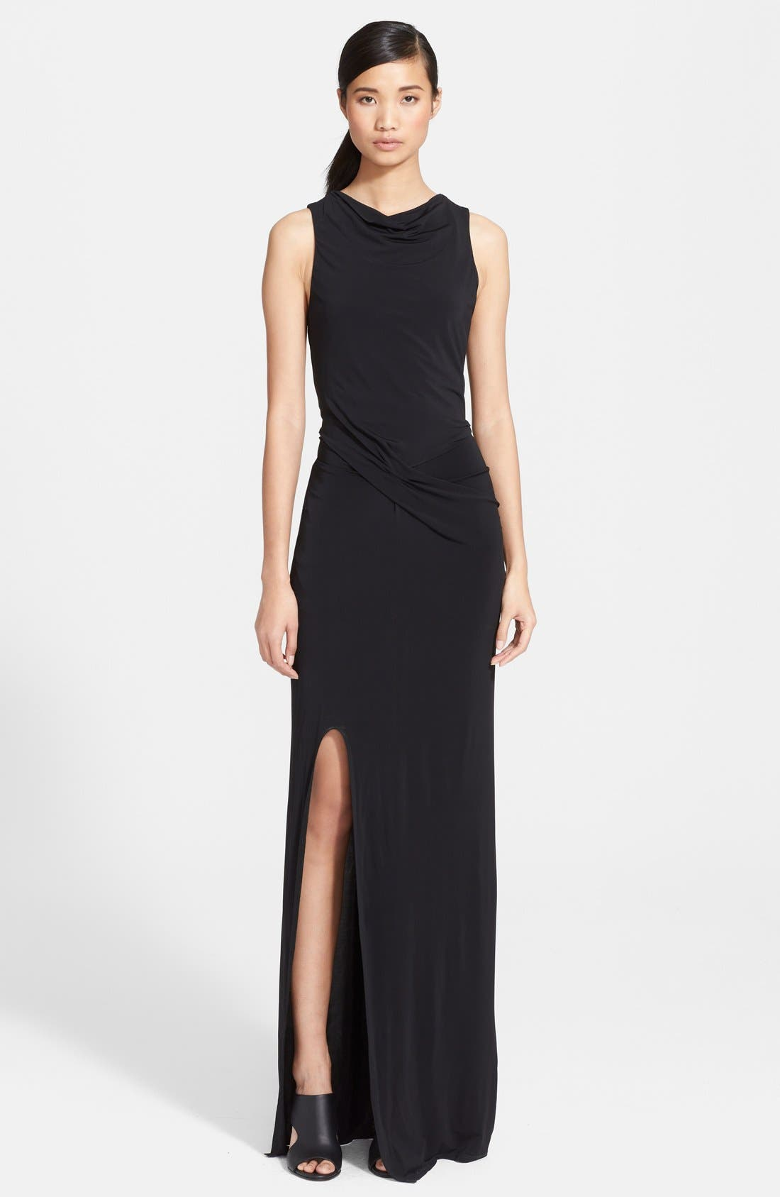 Alternate Image 1 Selected - Helmut Lang Cutout Back Maxi Dress