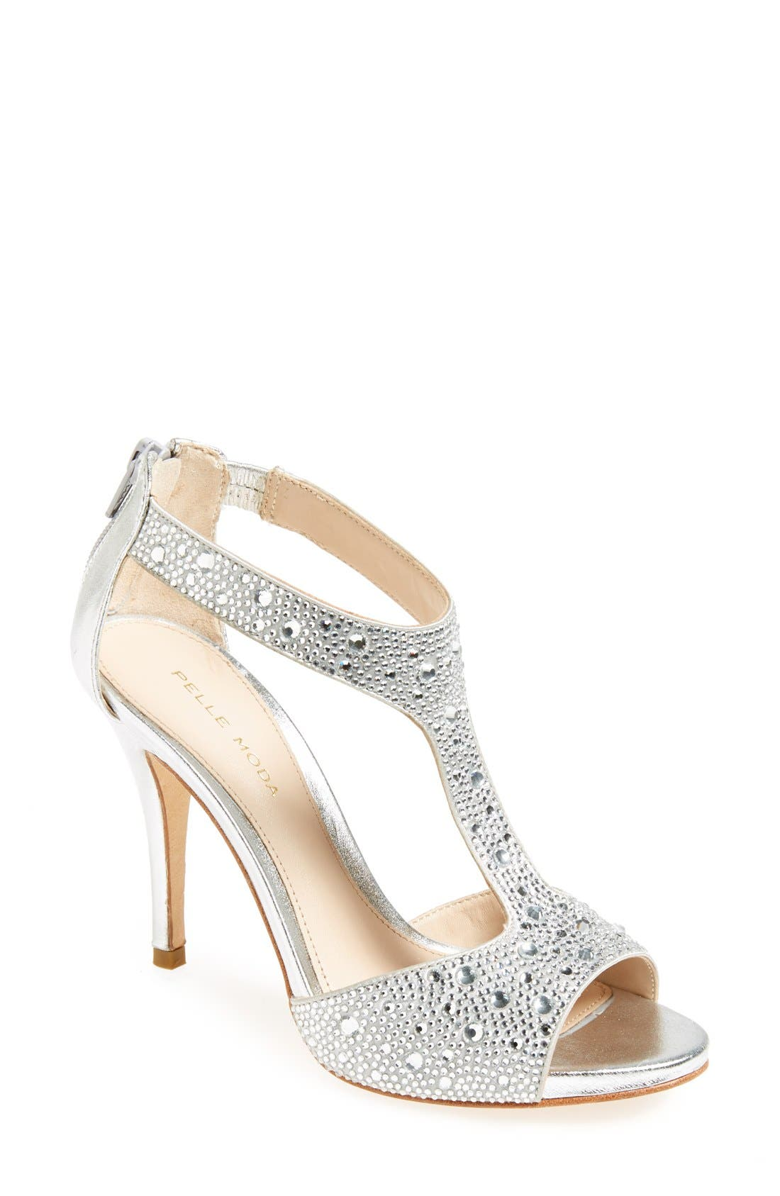 Alternate Image 1 Selected - Pelle Moda 'Jett' Embellished T Strap Sandal (Women)