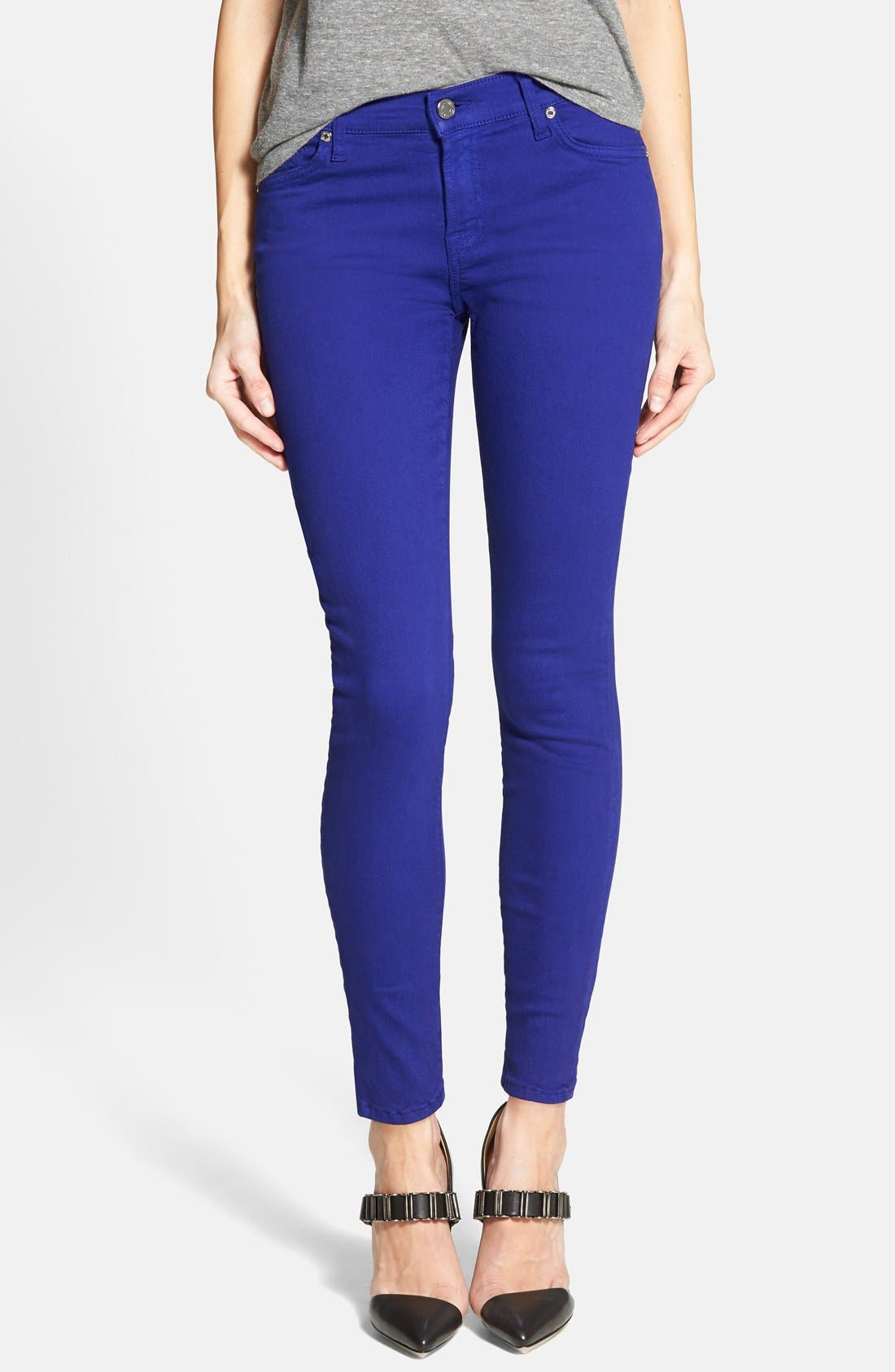 Main Image - 7 For All Mankind® 'The Ankle Skinny' Jeans (Monaco Purple)