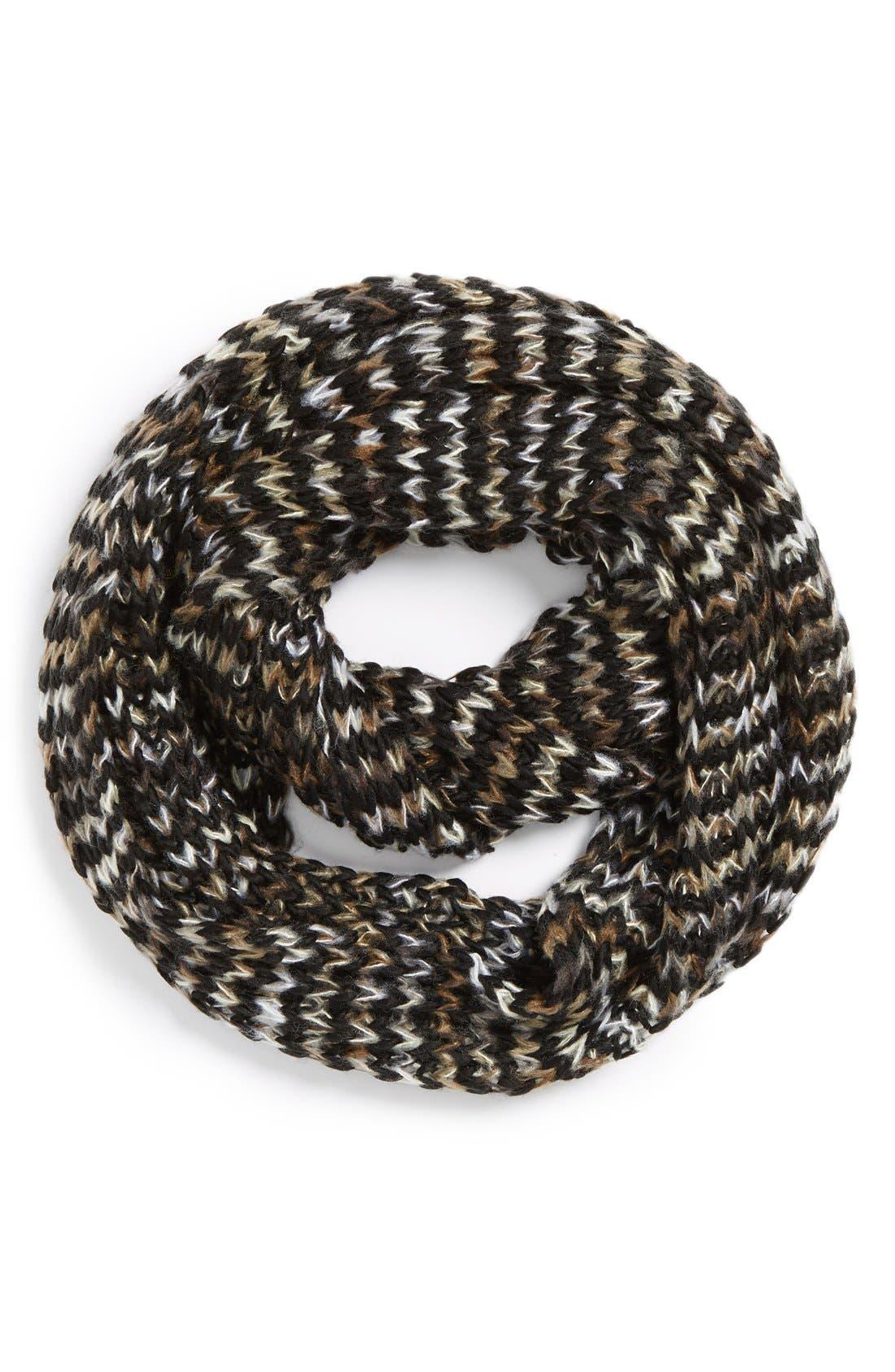 Alternate Image 1 Selected - BP. Marled Chevron Knit Infinity Scarf (Juniors)