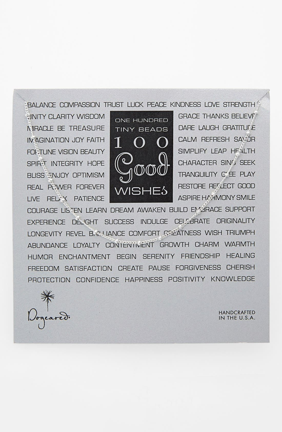 Main Image - Dogeared '100 Good Wishes' Long Station Necklace