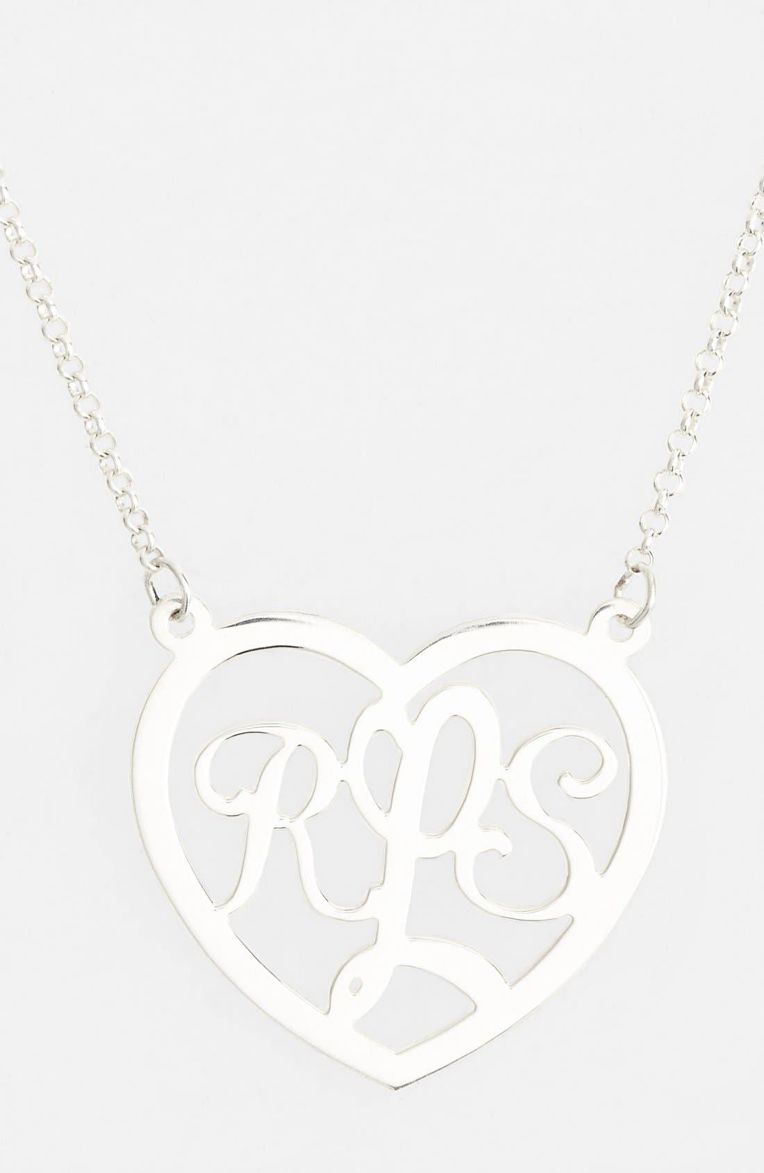 Main Image - Argento Vivo Personalized Script Initials Pendant Necklace