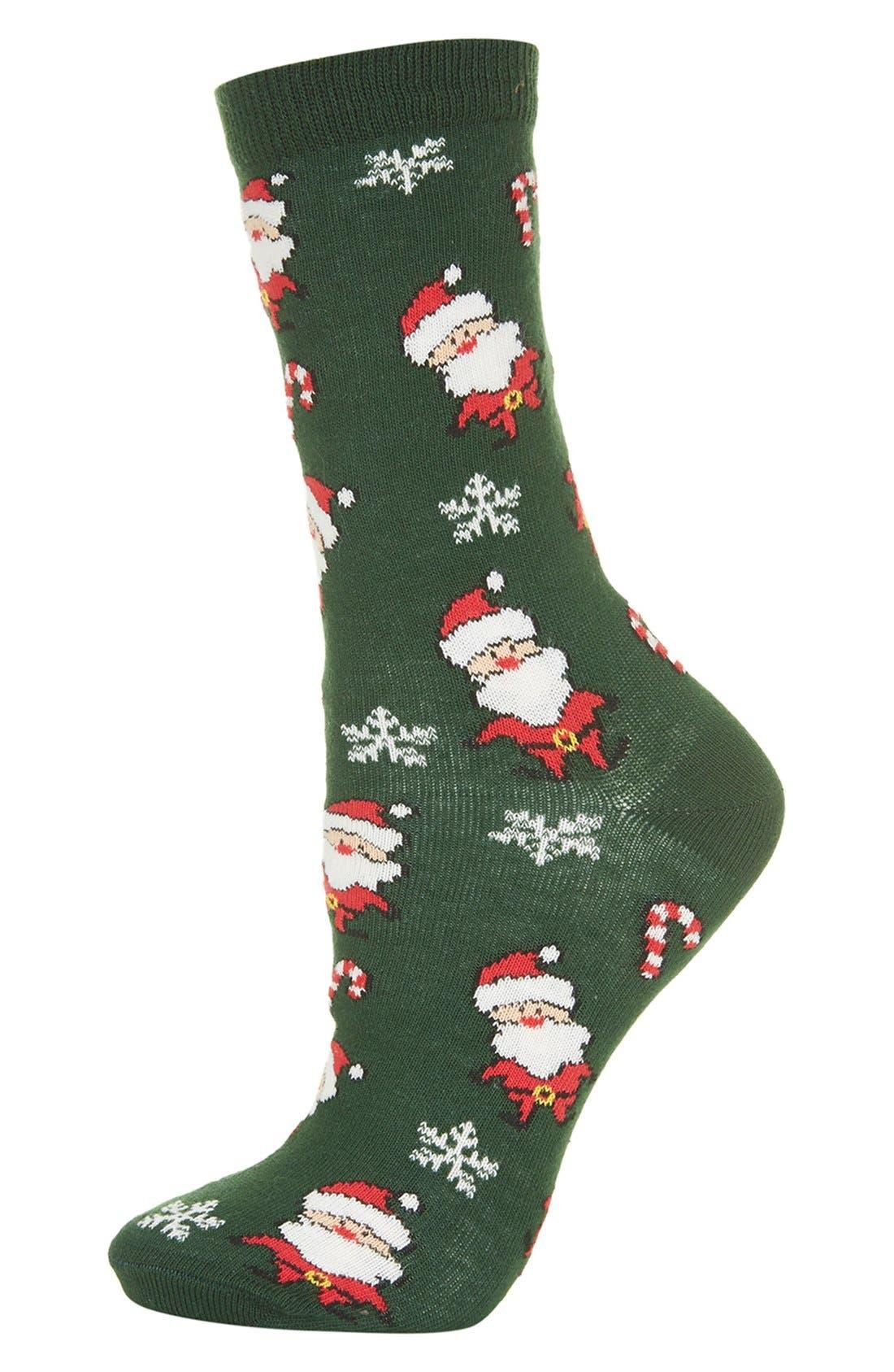 Alternate Image 1 Selected - Topshop Santa Seasonal Socks