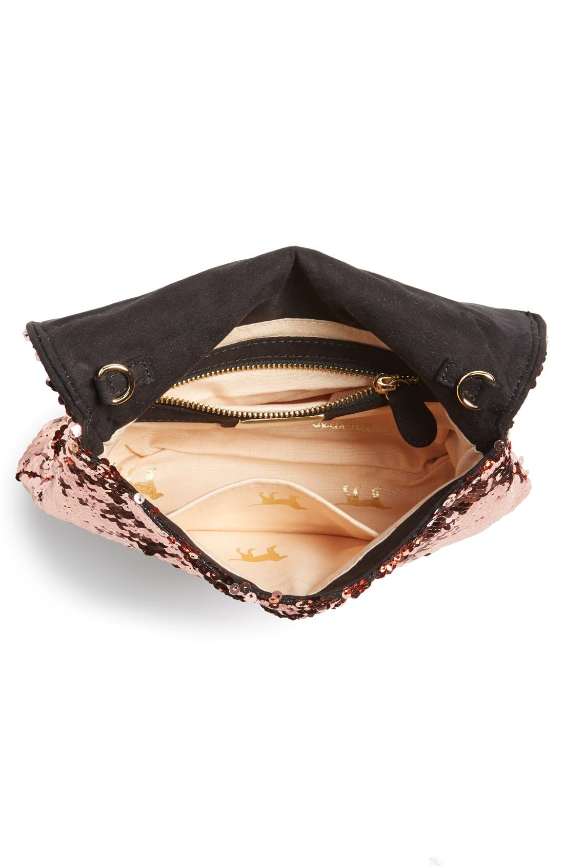 Alternate Image 3  - Deux Lux 'Ariel' Convertible Sequin Clutch
