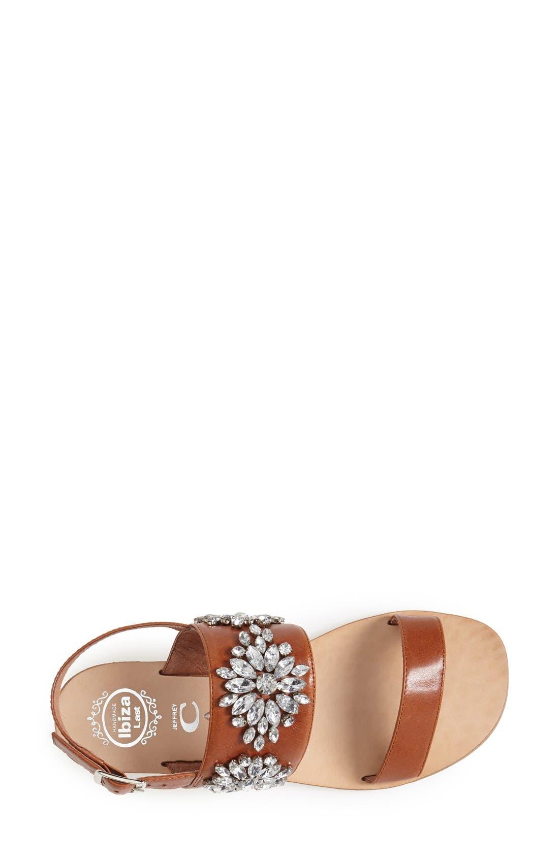 Alternate Image 3  - Jeffrey Campbell 'Dola' Jeweled Leather Sandal (Women)