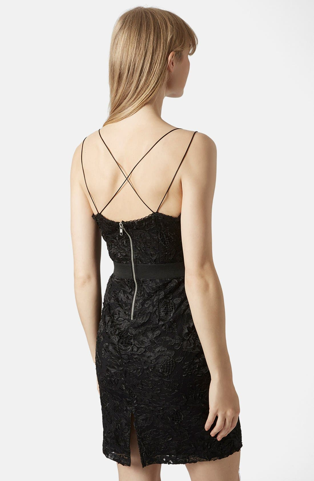 Alternate Image 2  - Topshop Strappy Lace Dress