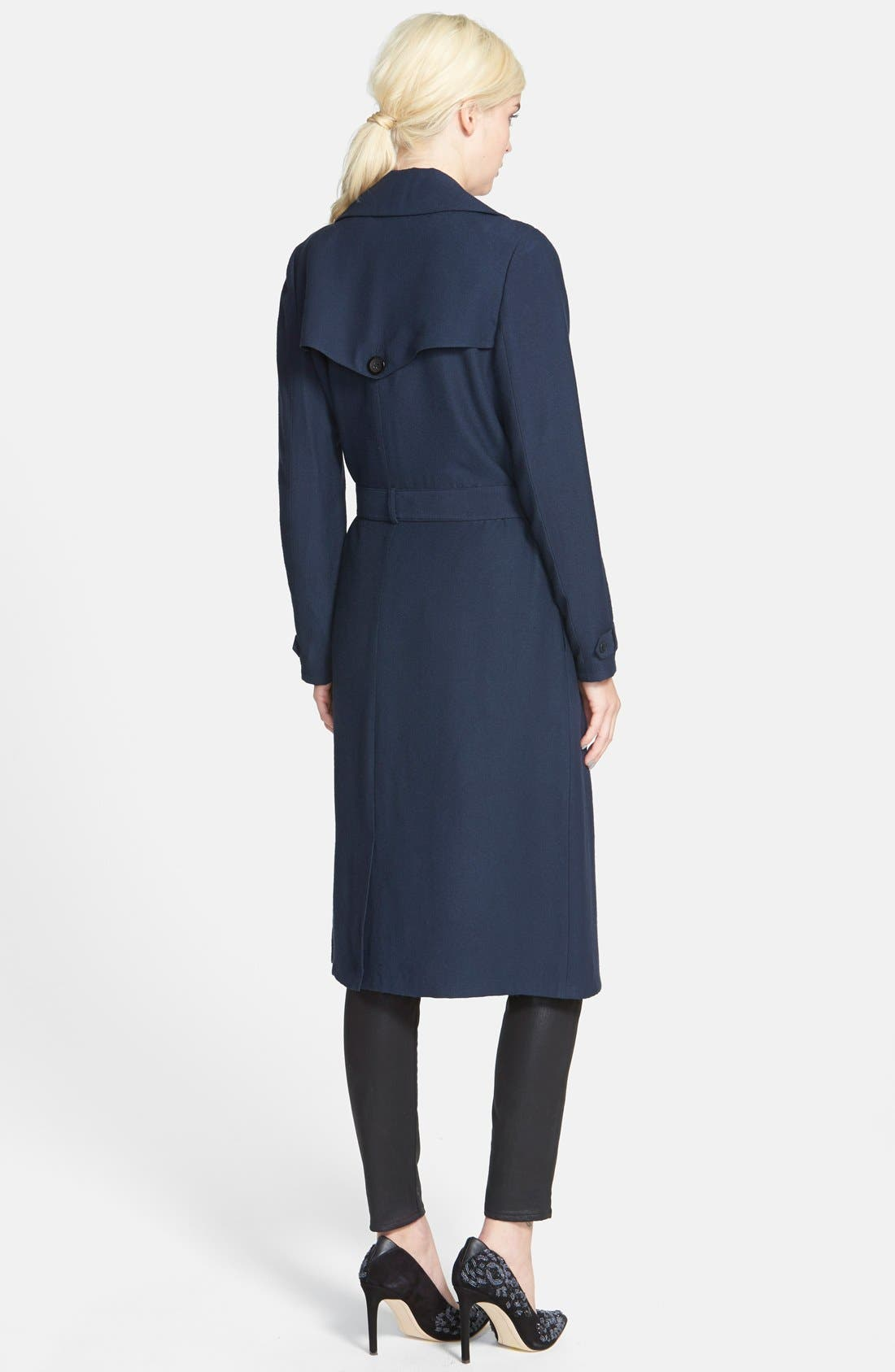 Alternate Image 2  - Chelsea28 Belted Crepe Trench Coat