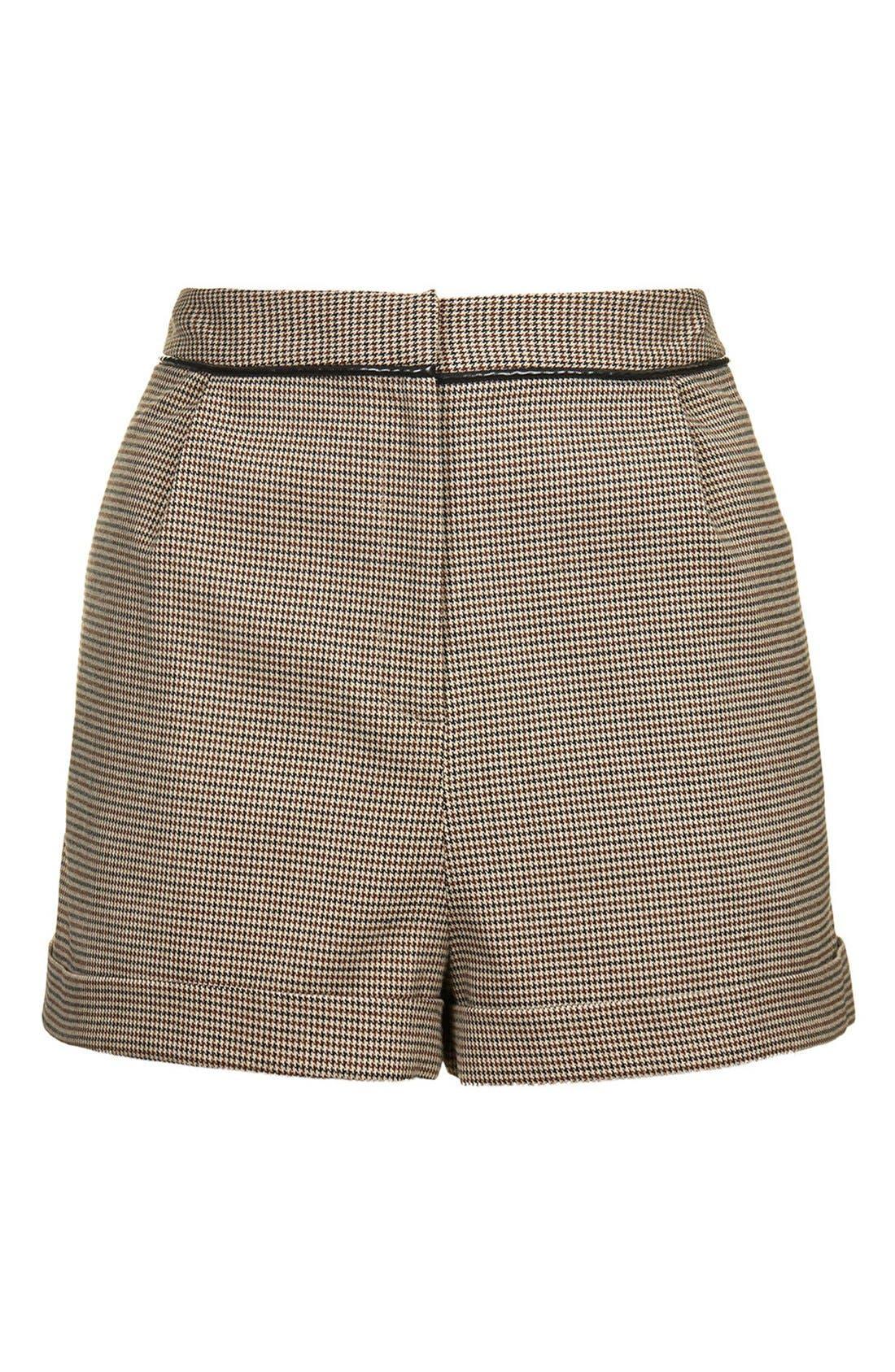 Alternate Image 3  - Topshop Check Mini Shorts