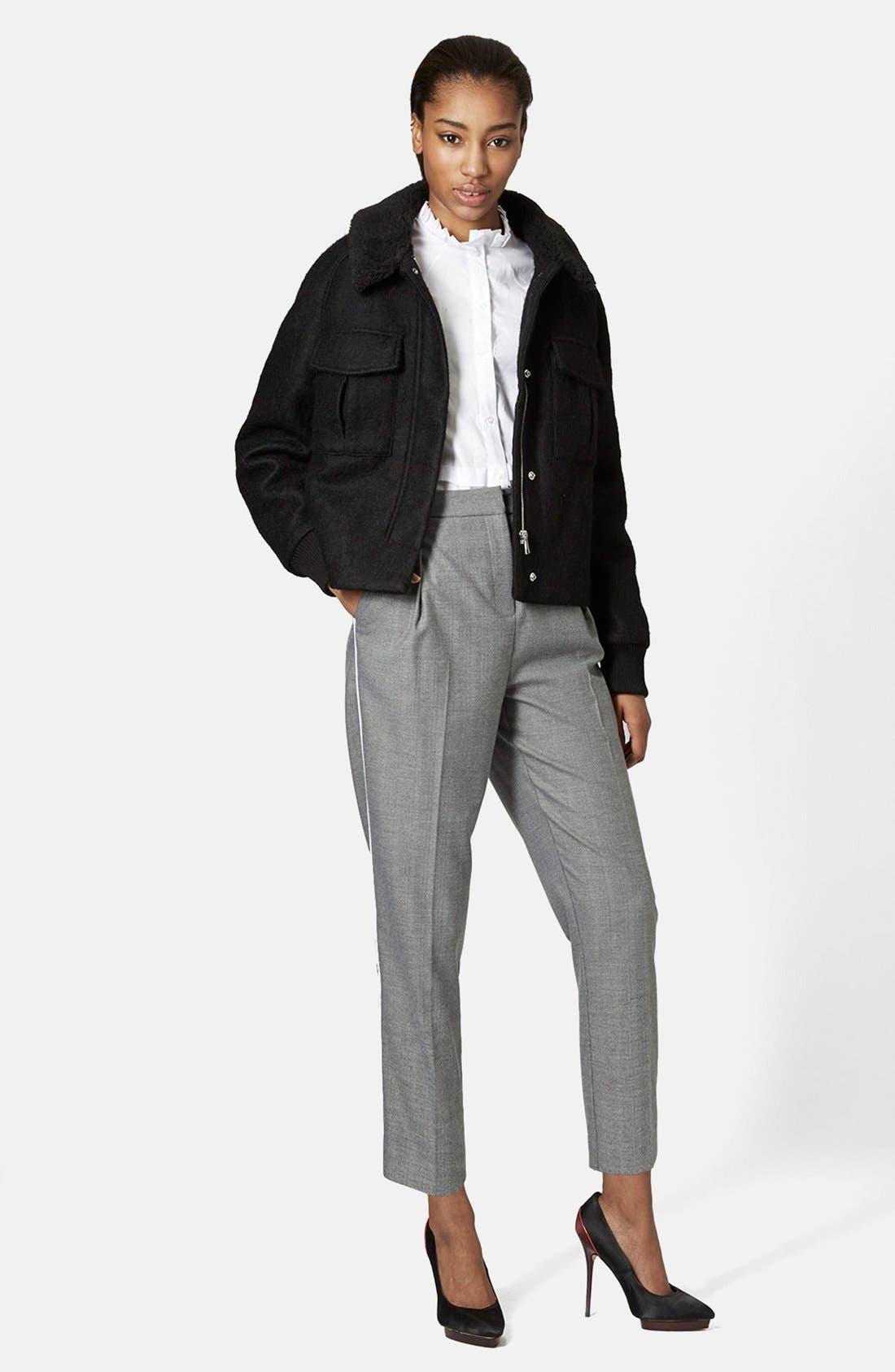 Alternate Image 5  - Topshop Faux Shearling Harrington Jacket