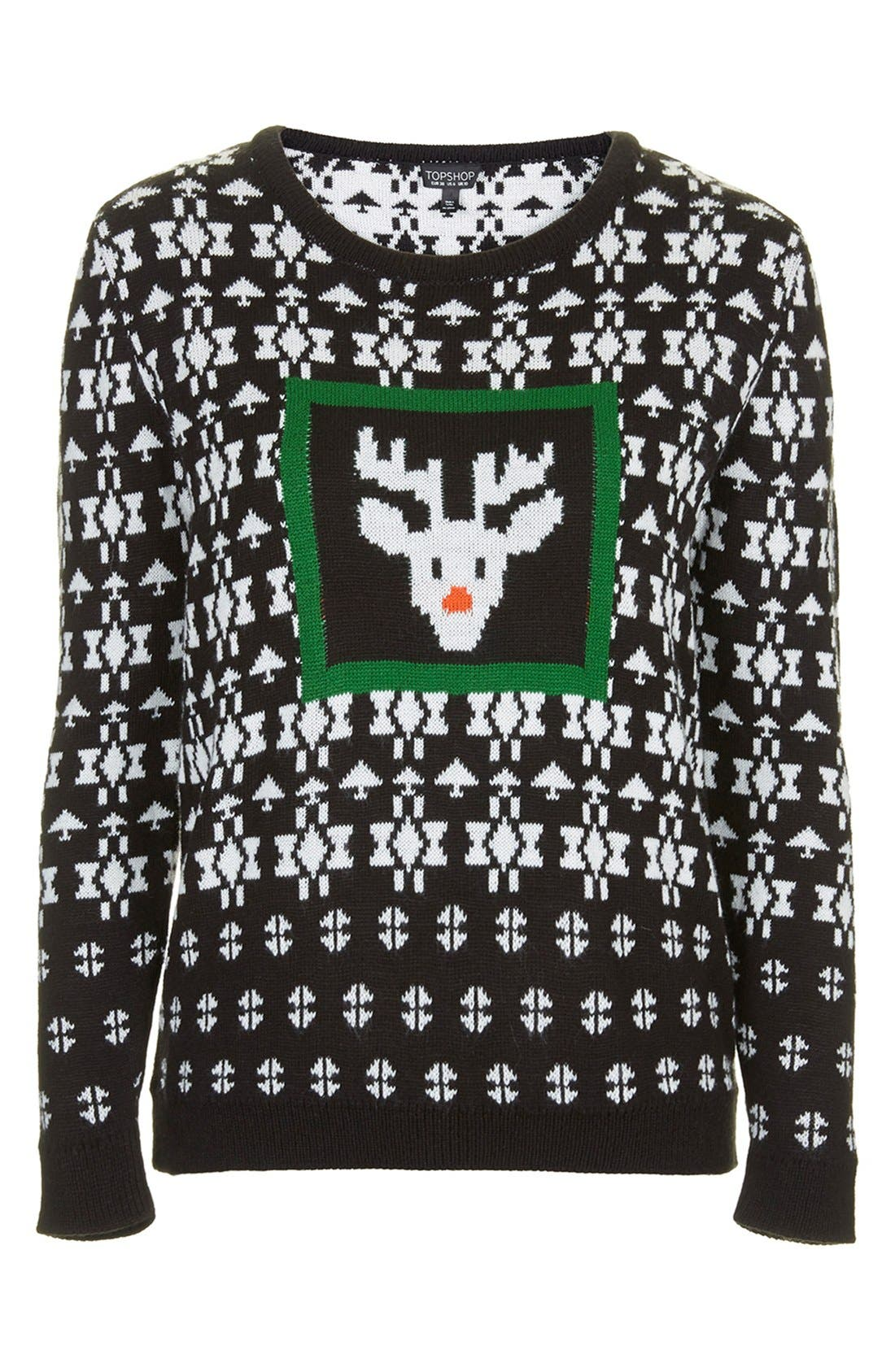 Alternate Image 4  - Topshop Rudolph Fair Isle Sweater