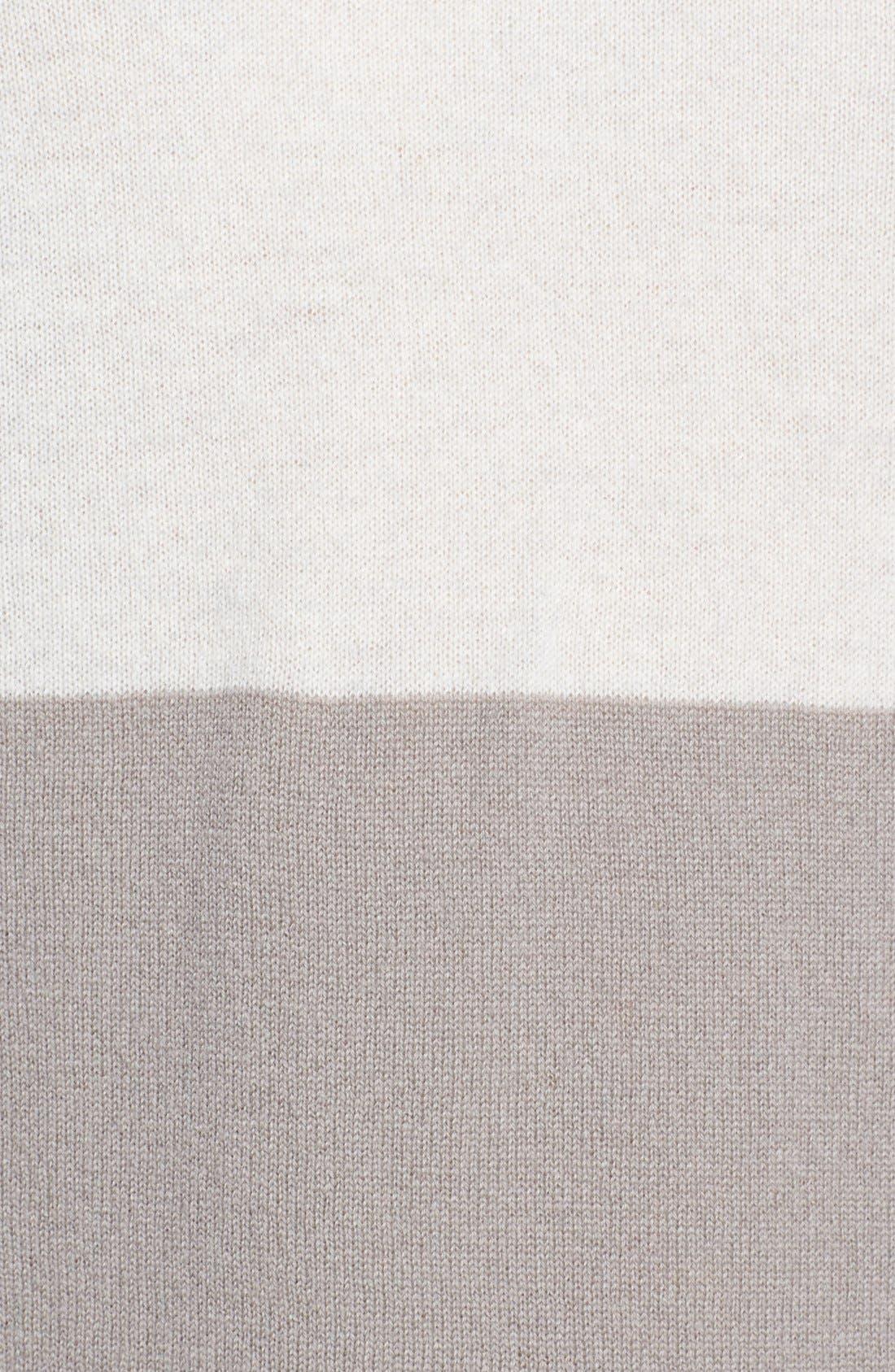 Alternate Image 3  - autumn cashmere Stripe & Solid Cashmere Sweatshirt