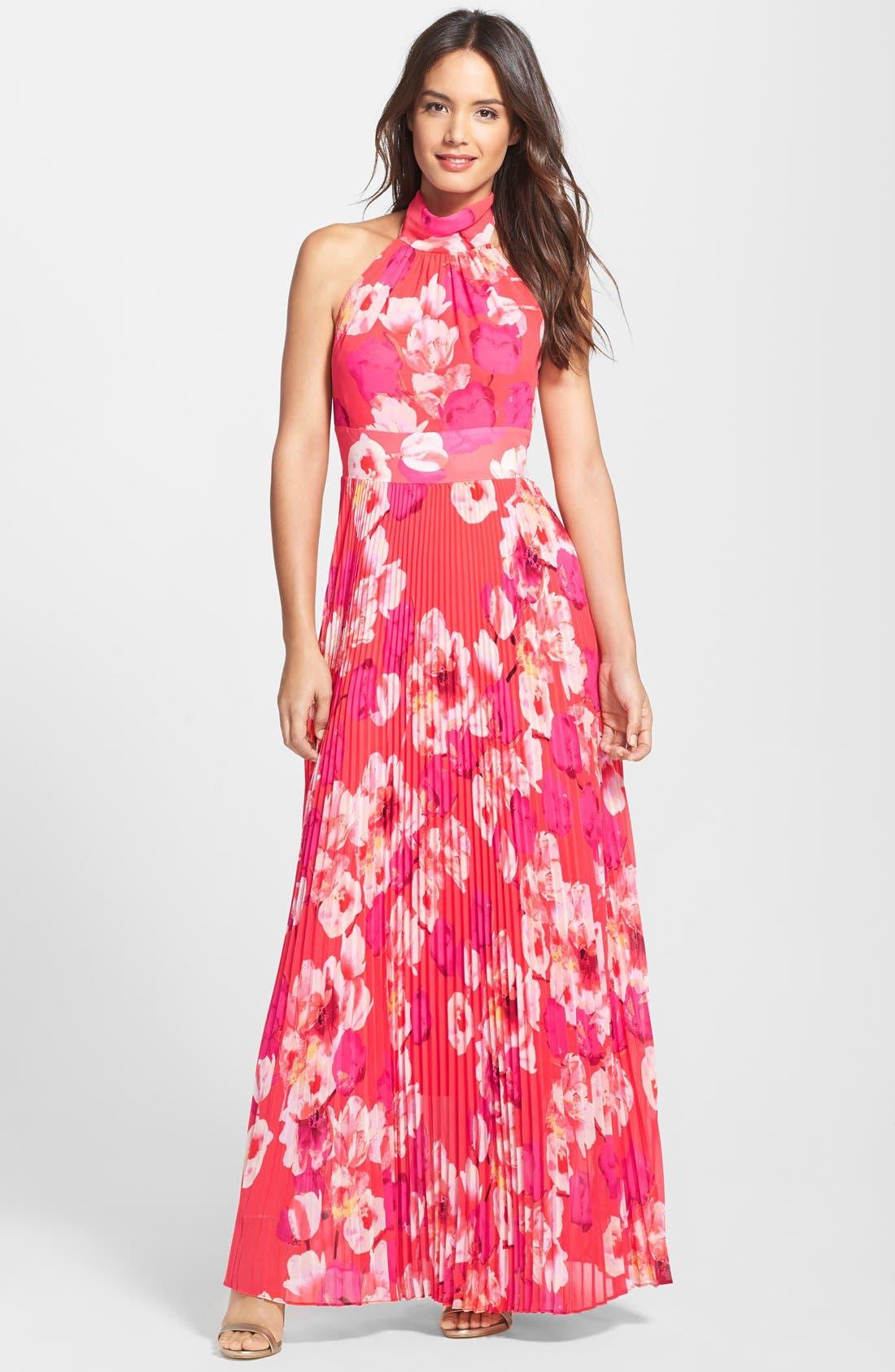 Main Image - Eliza J Print Chiffon Maxi Dress