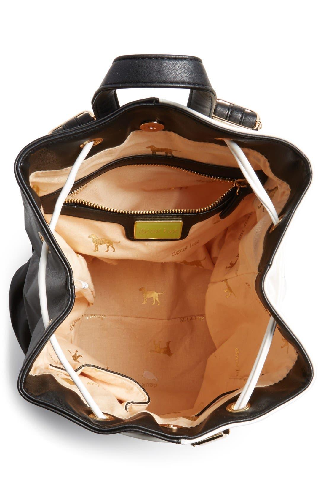 Alternate Image 3  - Deux Lux 'Mod' Colorblock Faux Leather Backpack
