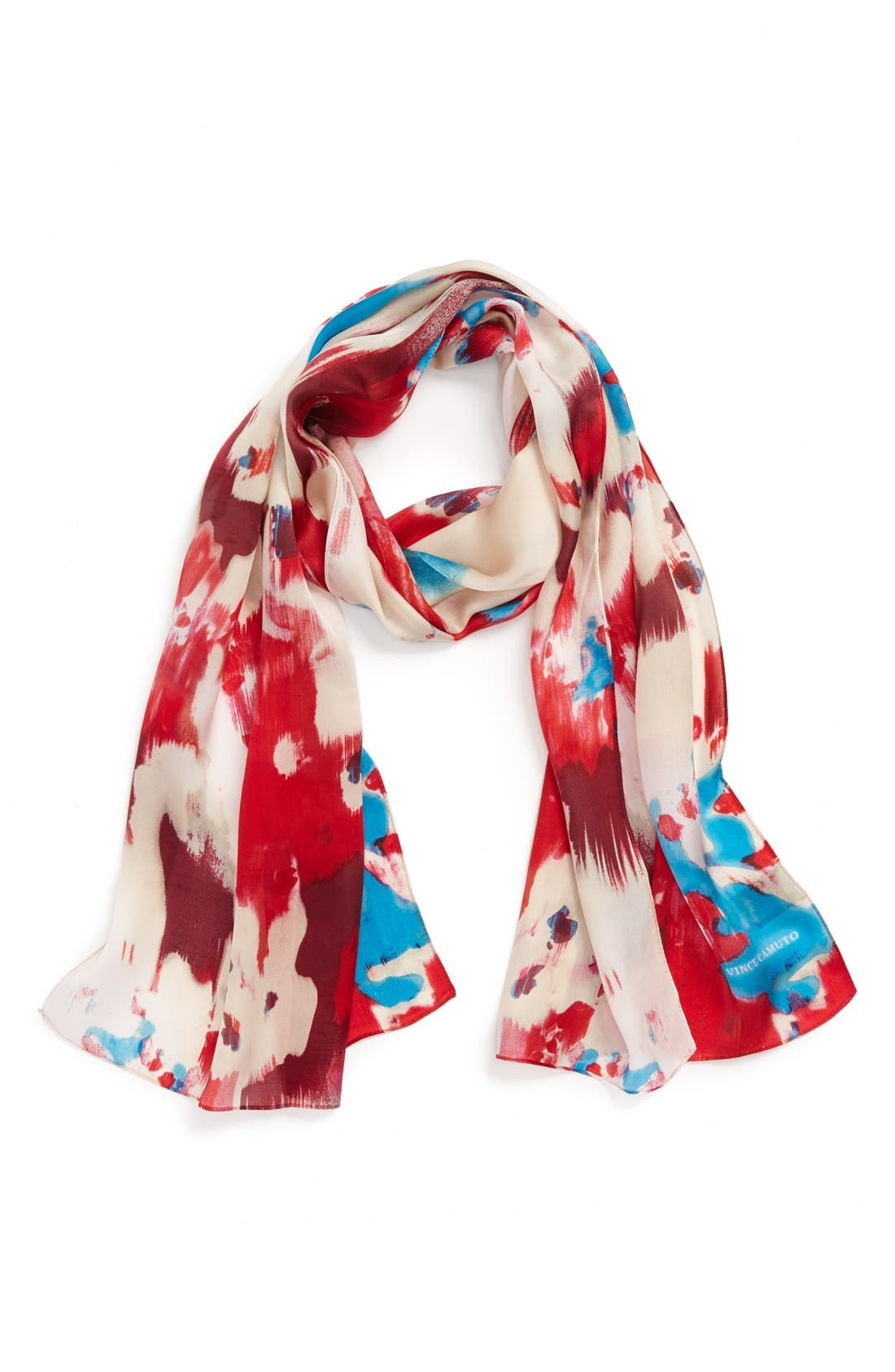 Main Image - Vince Camuto 'Ink Flowers' Silk Scarf