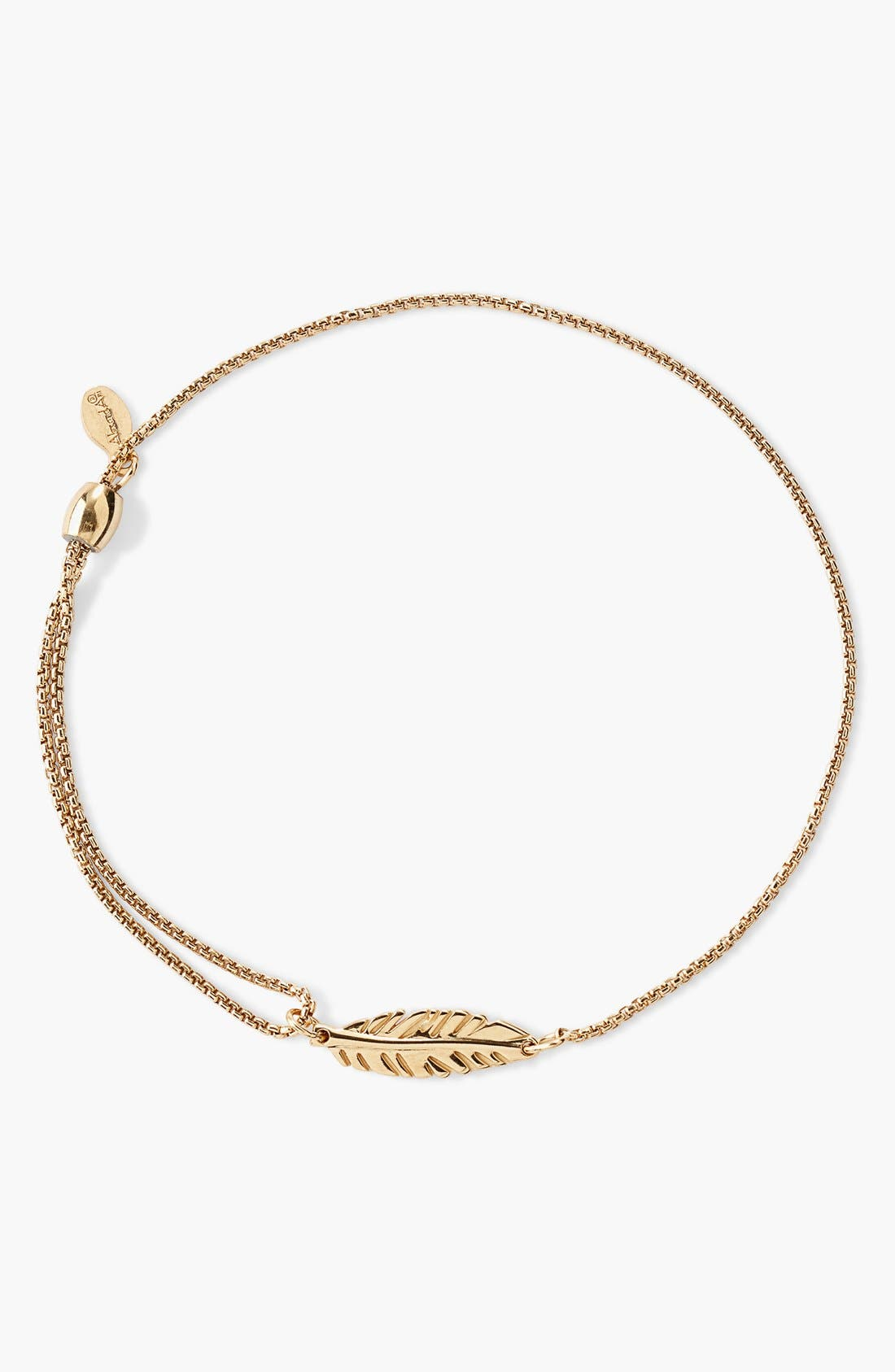 Alternate Image 1 Selected - Alex and Ani 'Providence' Feather Pull Chain Bracelet