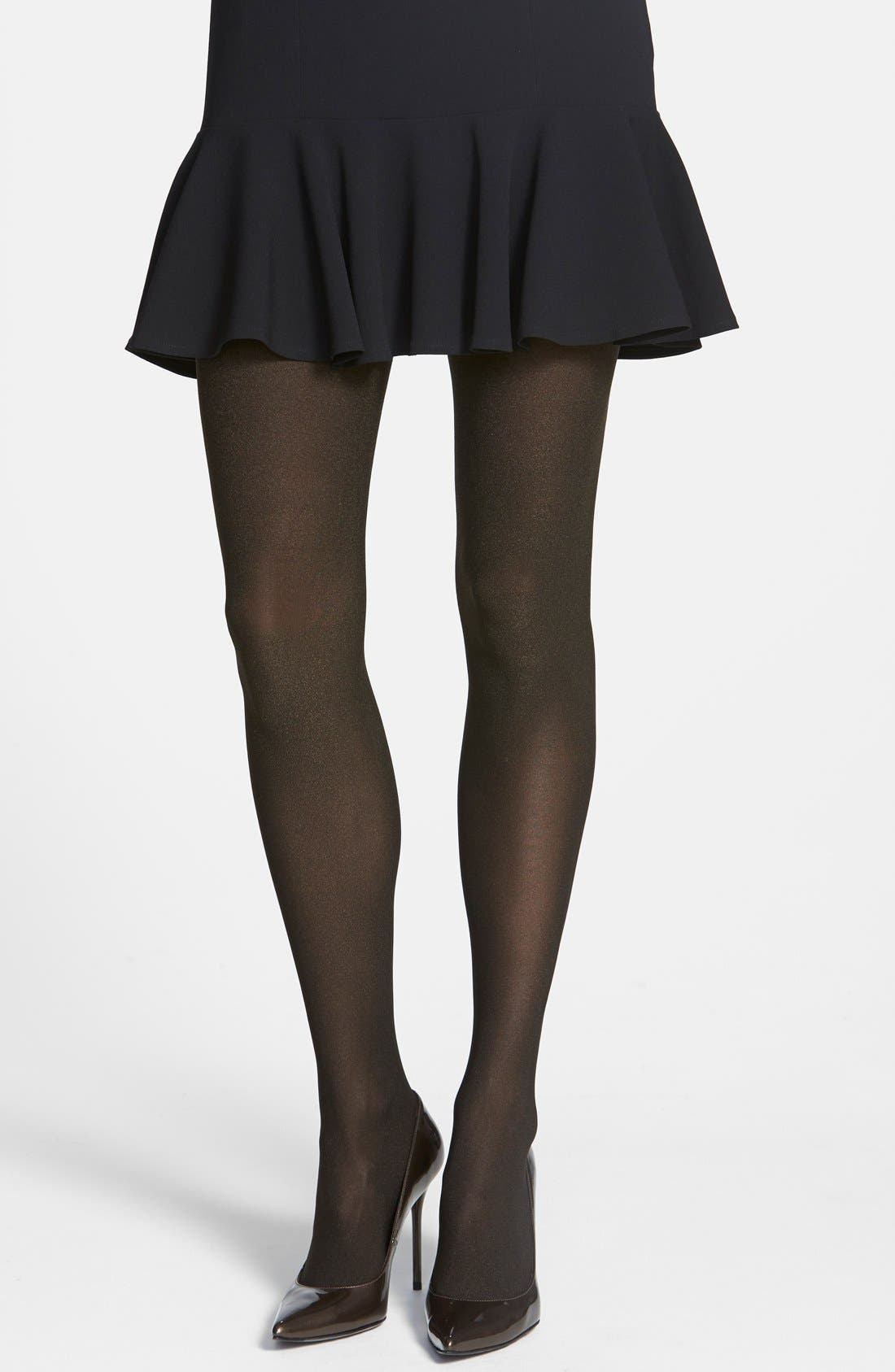 Alternate Image 1 Selected - Donna Karan 'Blackened Shimmer' Tights