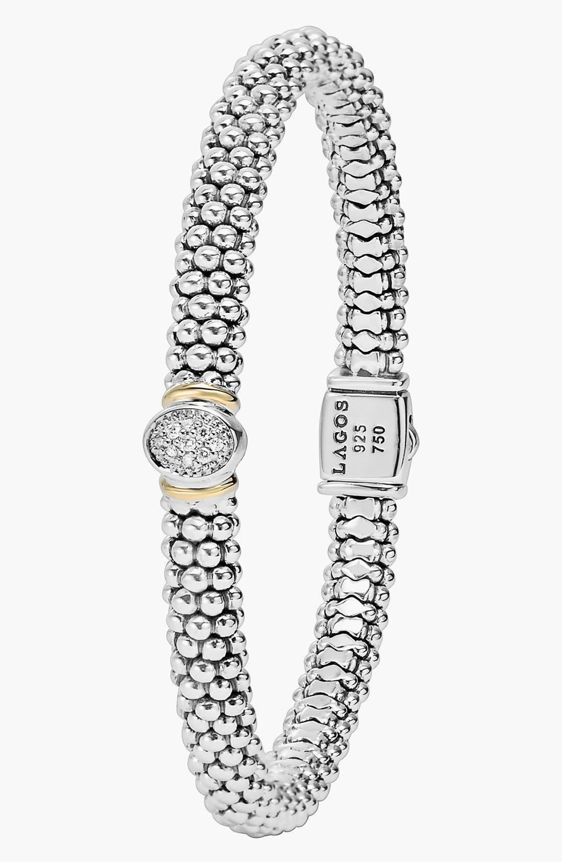 Alternate Image 2  - LAGOS 'Twilight' Caviar™ Diamond Rope Bracelet