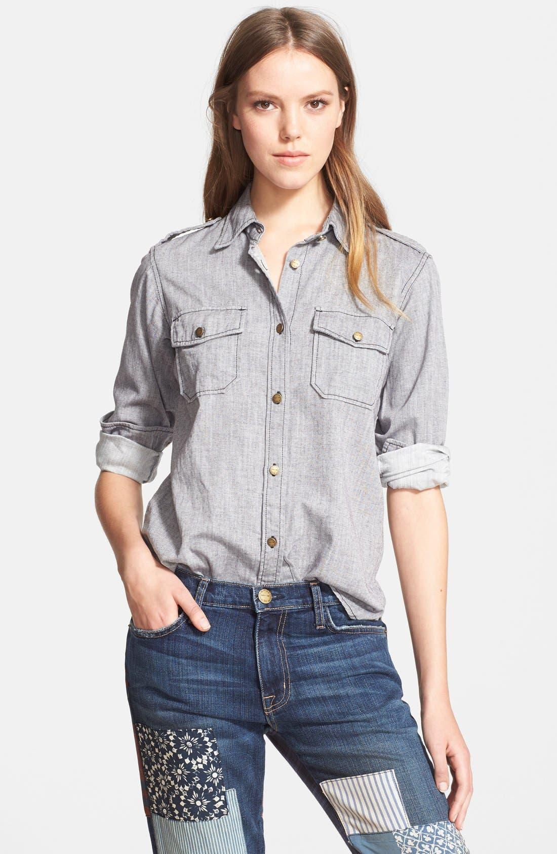Alternate Image 1 Selected - Current/Elliott 'The Perfect Shirt' Cotton Shirt