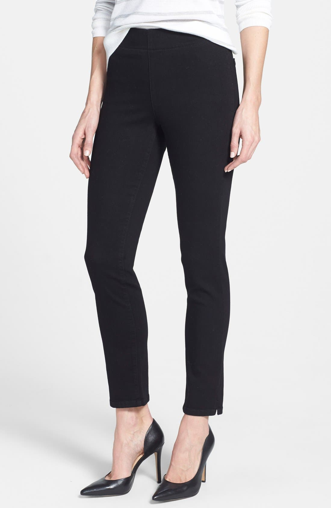 NYDJ Alina Stretch Ankle Jeans (Black) (Regular & Petite)