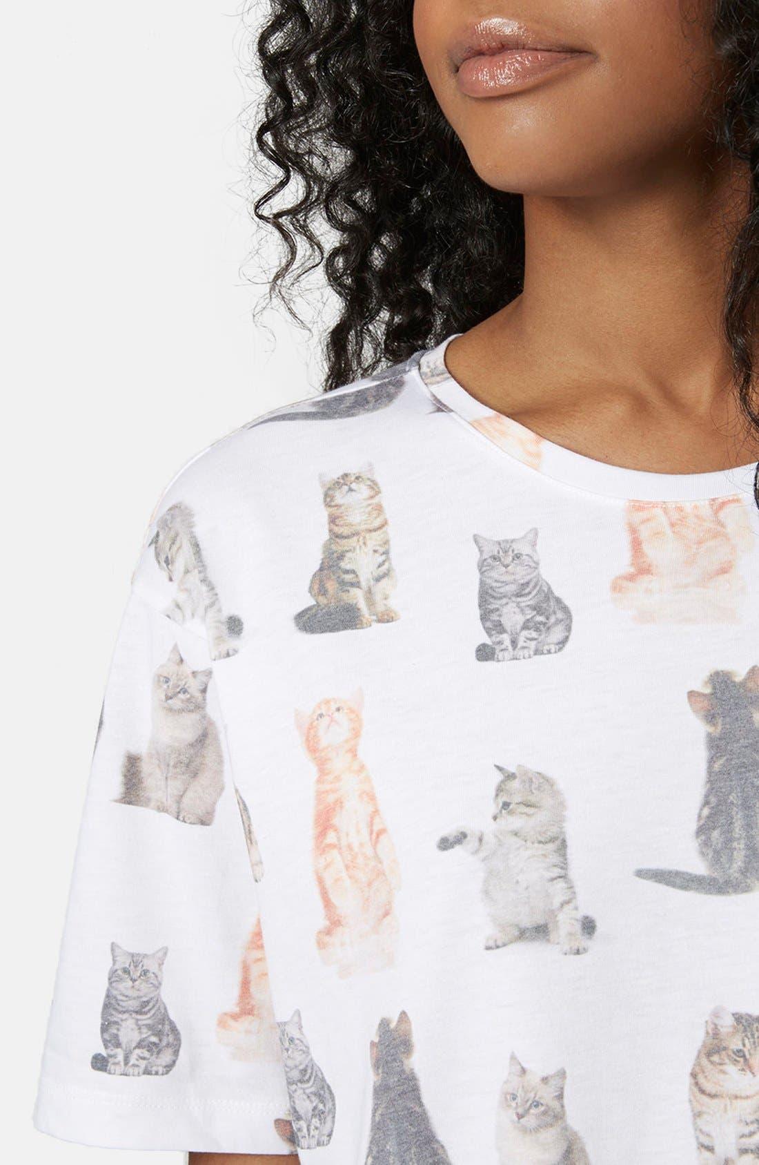 Alternate Image 4  - Topshop Cat Print Pajama Set