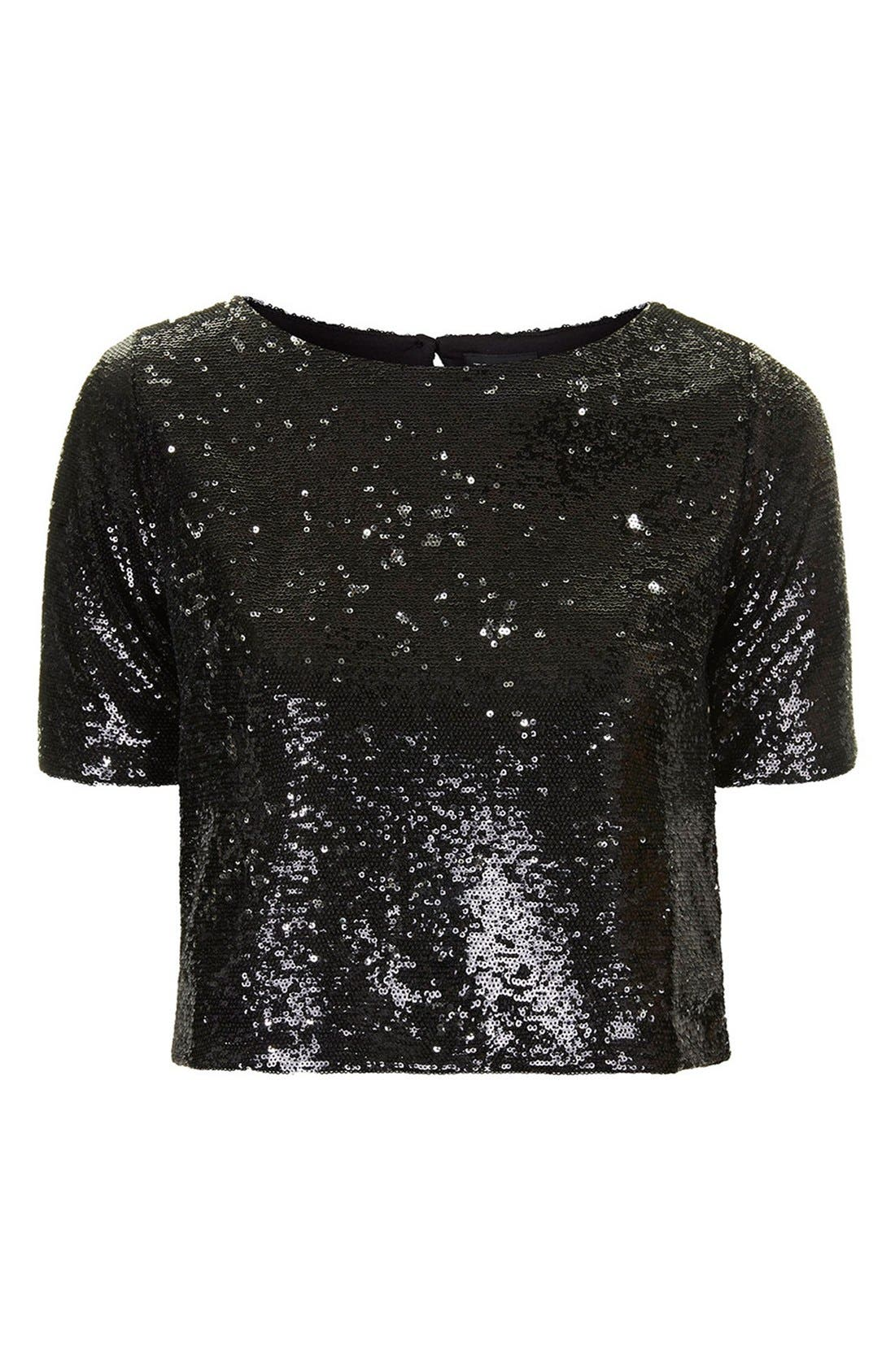 Alternate Image 3  - Topshop Two Tone Sequin Tee