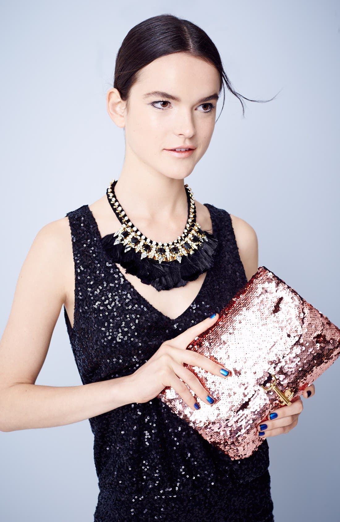 Alternate Image 7  - Deux Lux 'Ariel' Convertible Sequin Clutch