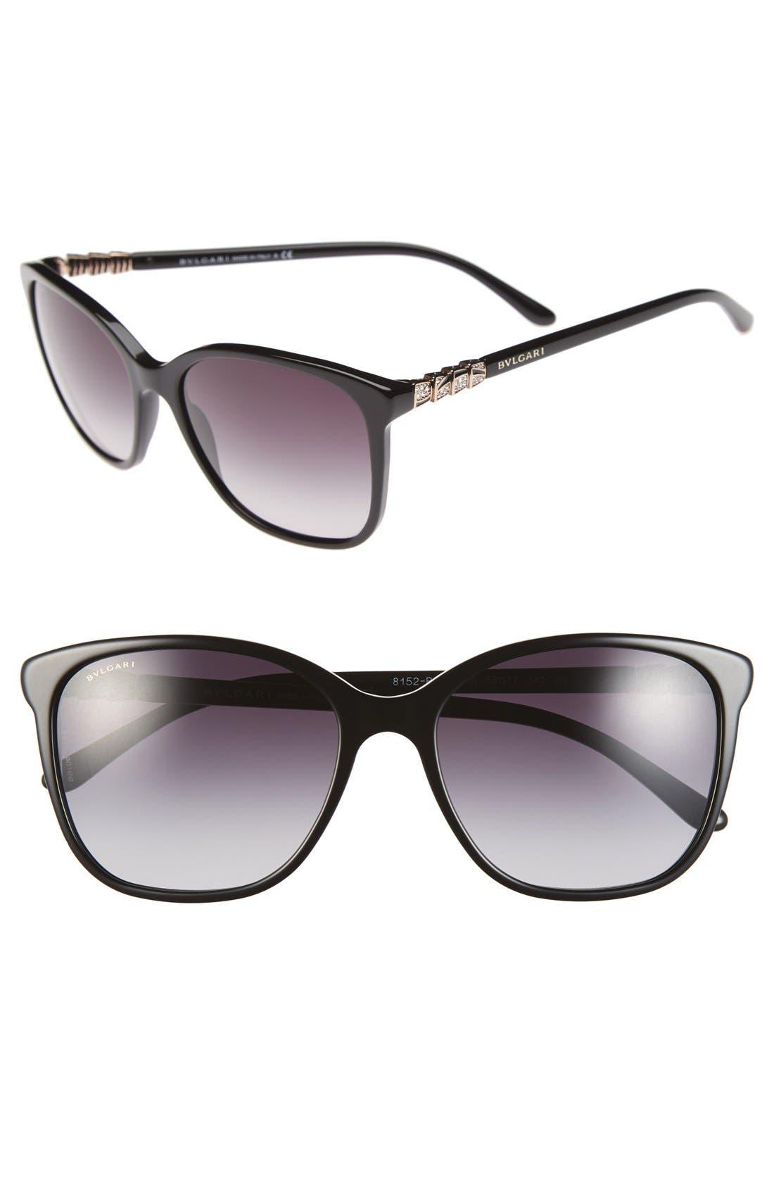 Alternate Image 1 Selected - BVLGARI 56mm Gradient Sunglasses