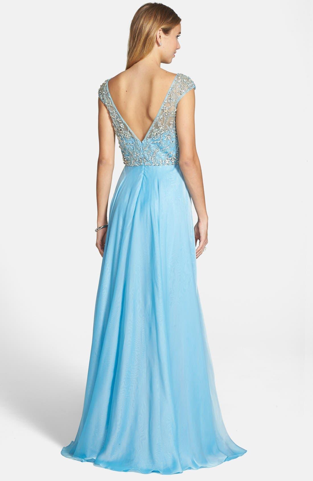 Alternate Image 2  - Sherri Hill Embellished Illusion Bodice Gown