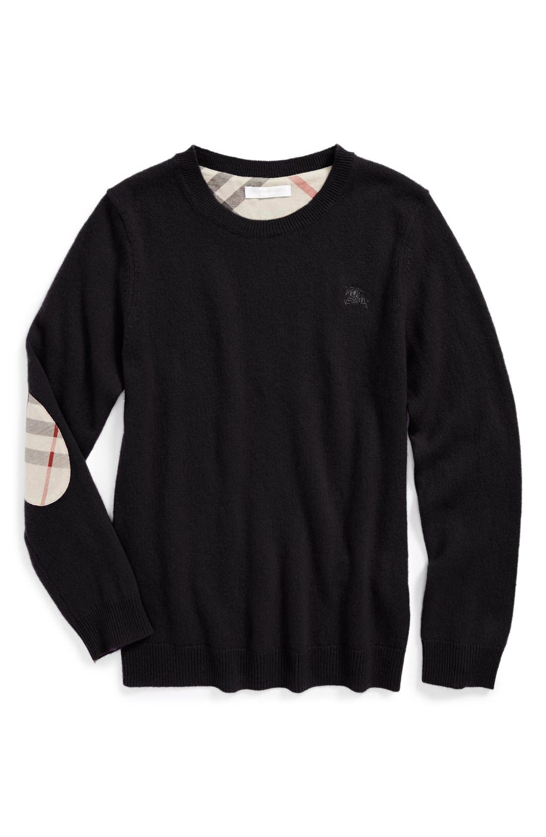 Burberry Elbow Patch Cashmere Sweater (Little Boys & Big Boys)
