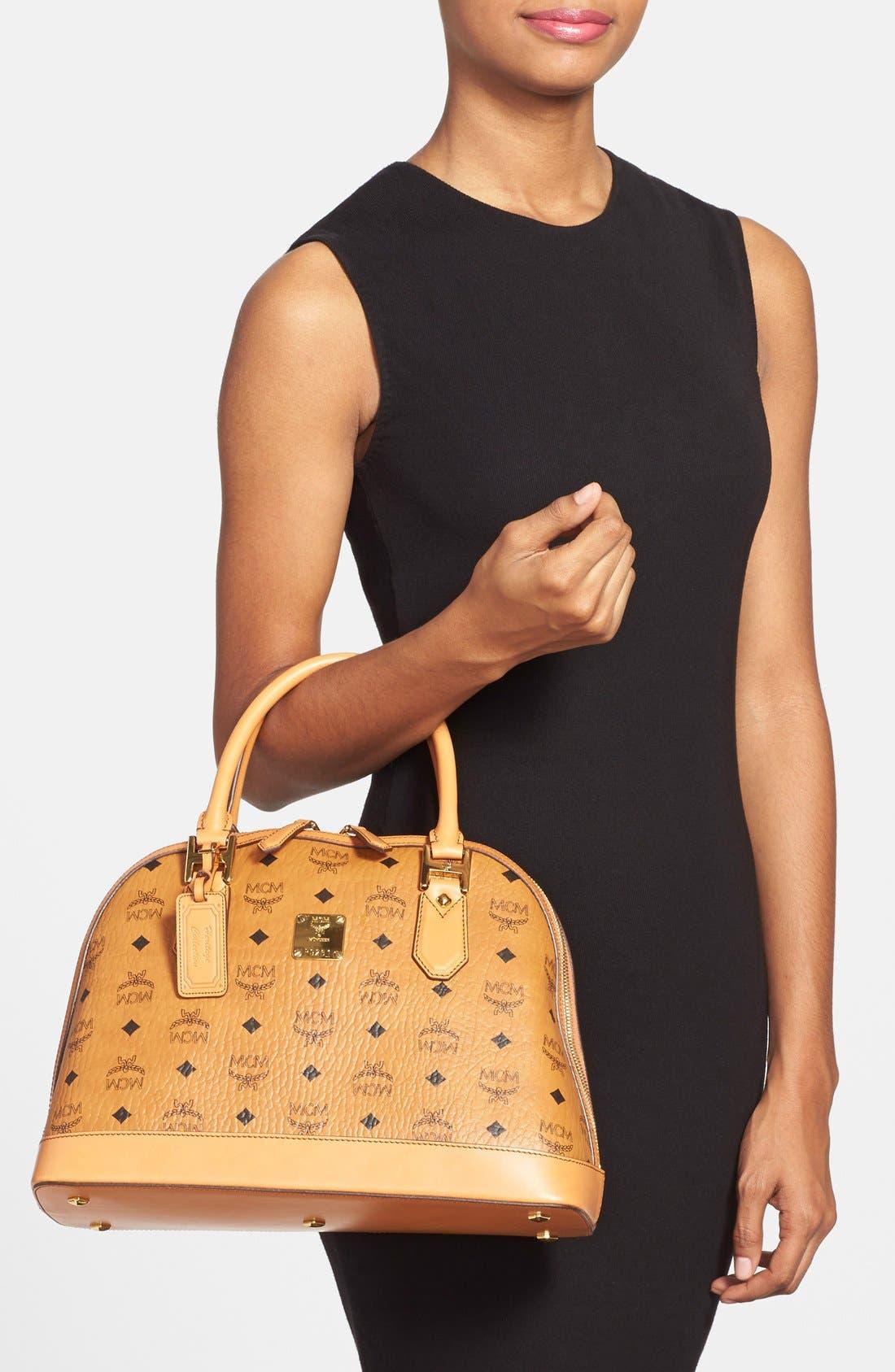 Alternate Image 2  - MCM 'Medium Heritage' Coated Canvas Bowler Bag