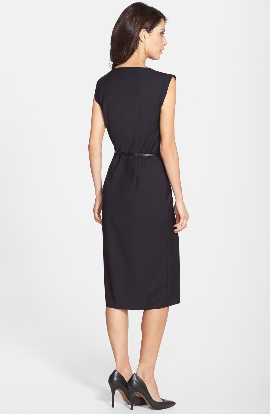 Alternate Image 2  - French Connection 'Frankie' Belted Suiting Dress (Online Only)